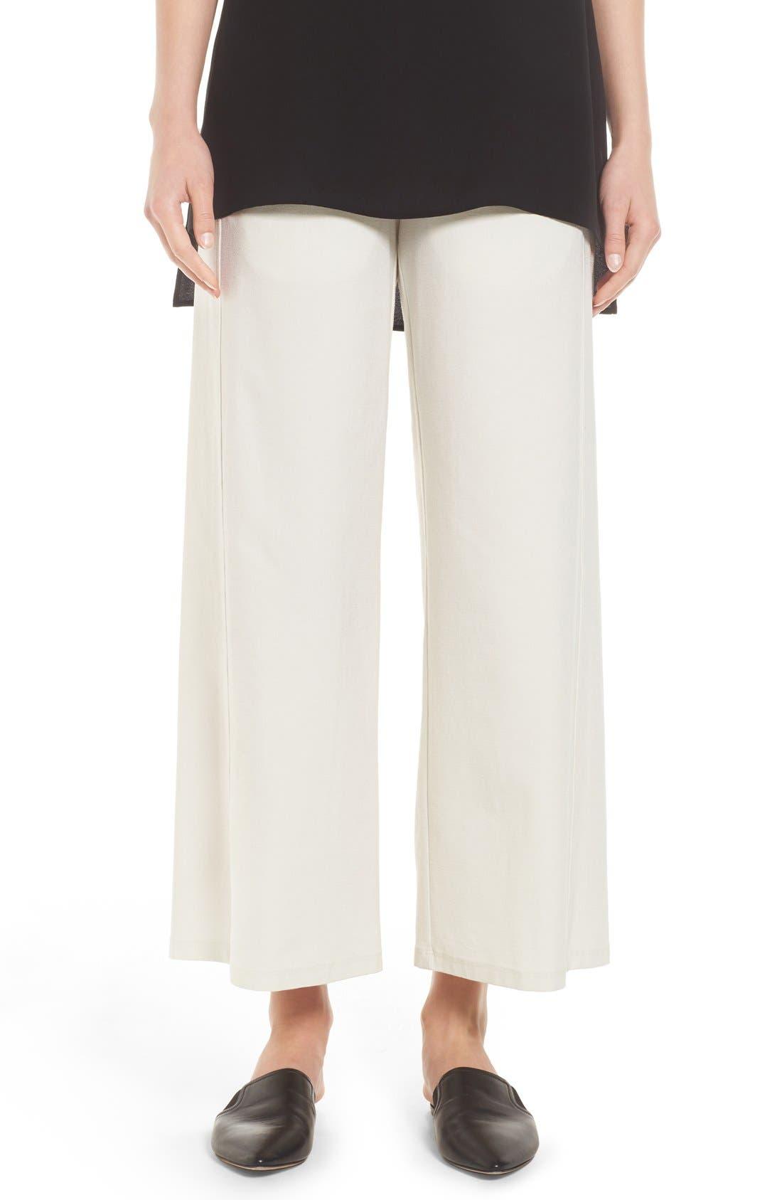 Wide Leg Crop Pants,                             Main thumbnail 4, color,
