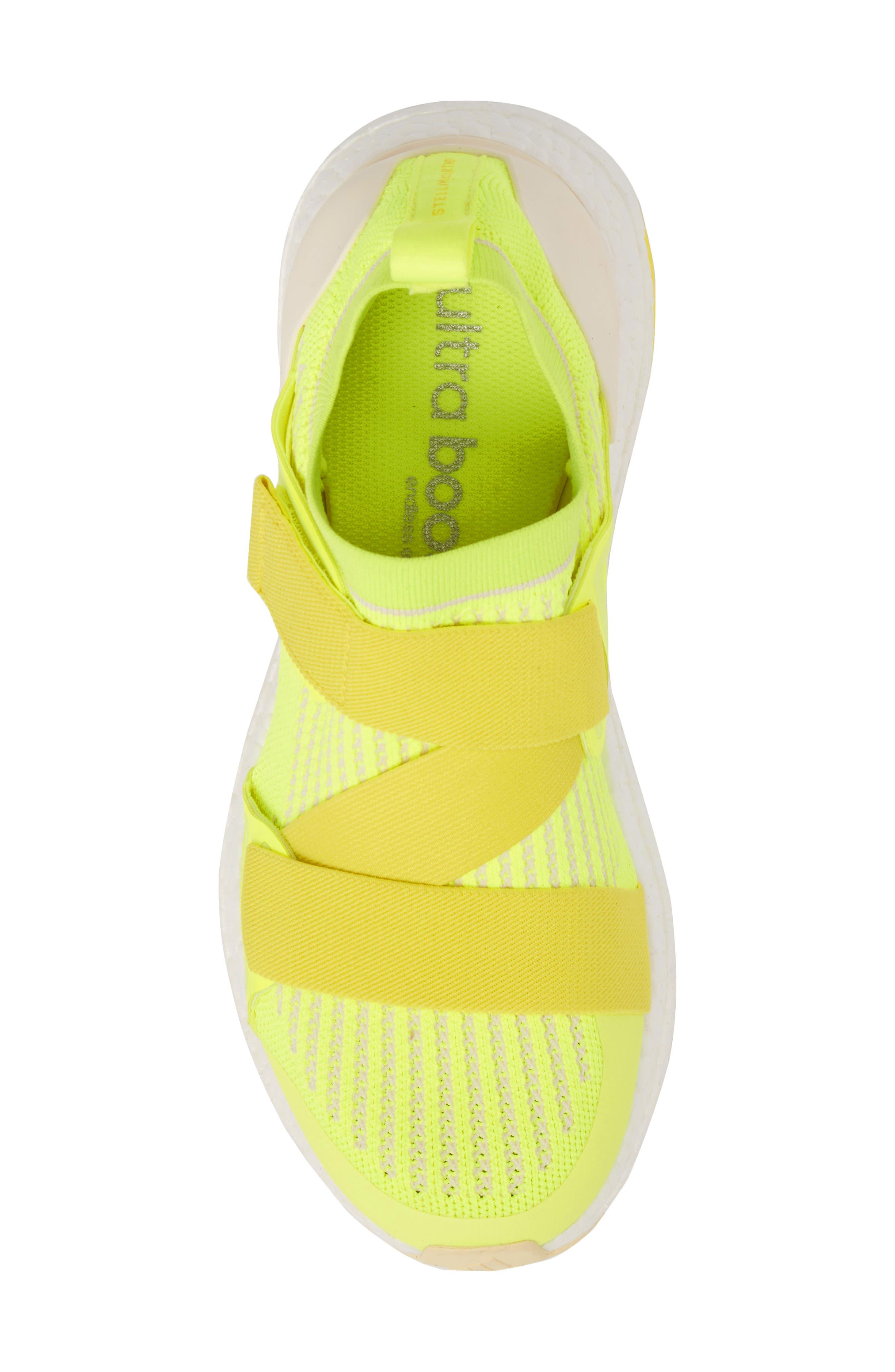 UltraBoost X Running Shoe,                             Alternate thumbnail 5, color,                             SOLAR YELLOW/ YELLOW/ SUN