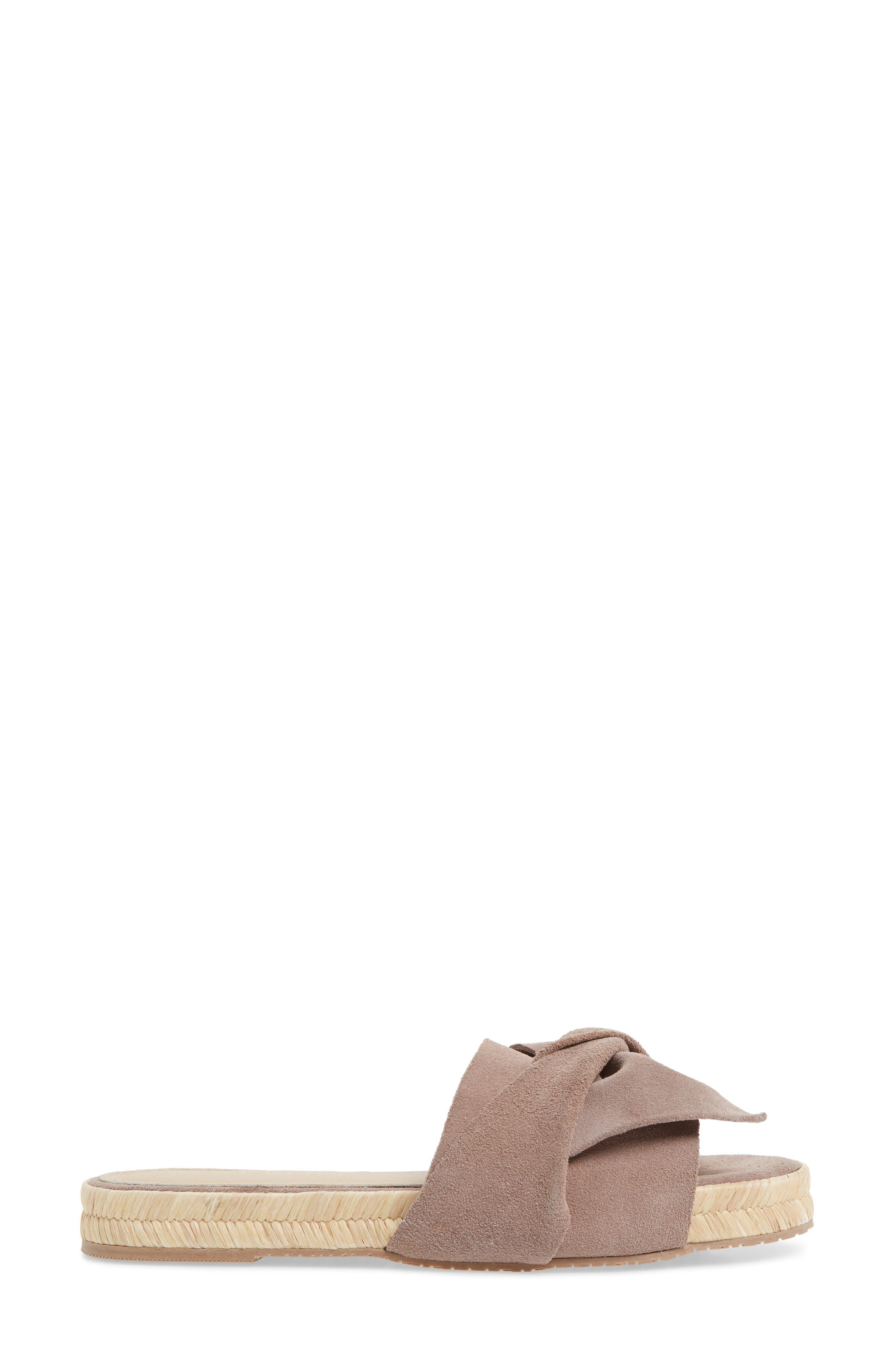 Sayulita Knotted Slide Sandal,                             Alternate thumbnail 3, color,                             500
