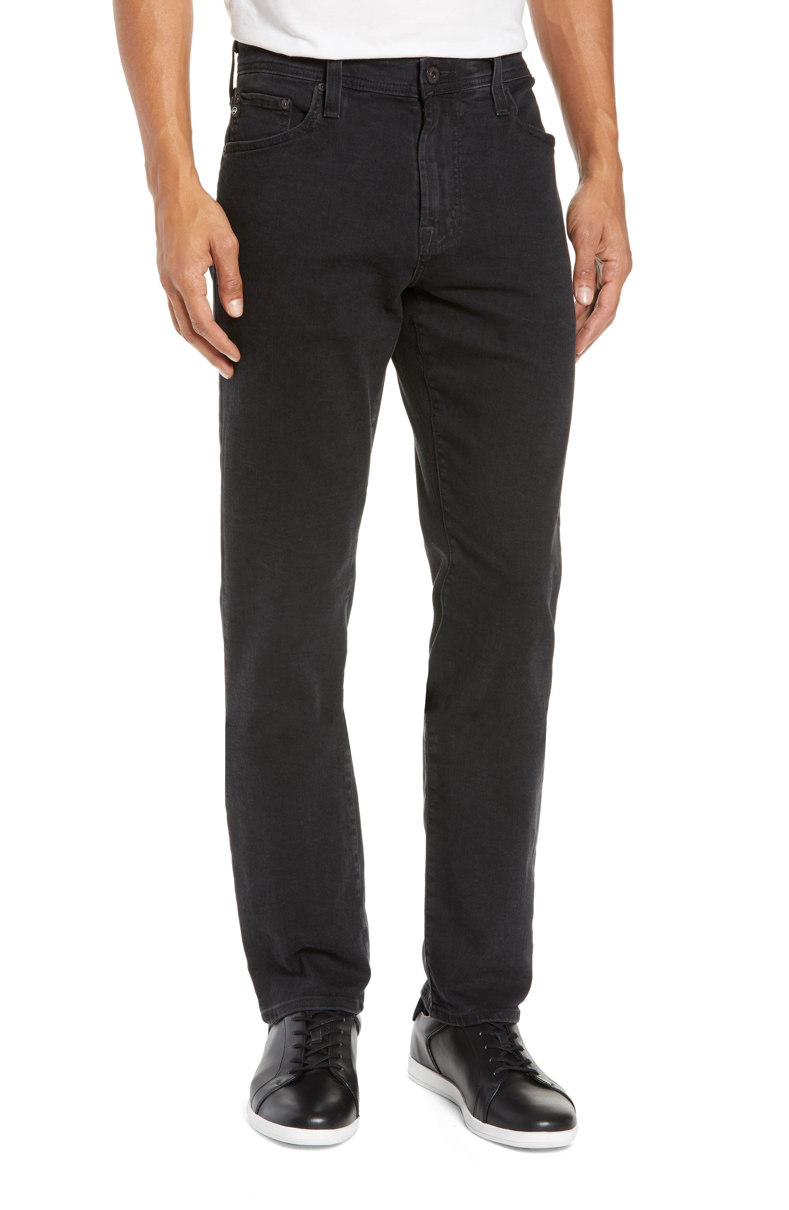 Everett Slim Straight Leg Jeans, Main, color, BRIMSTONE