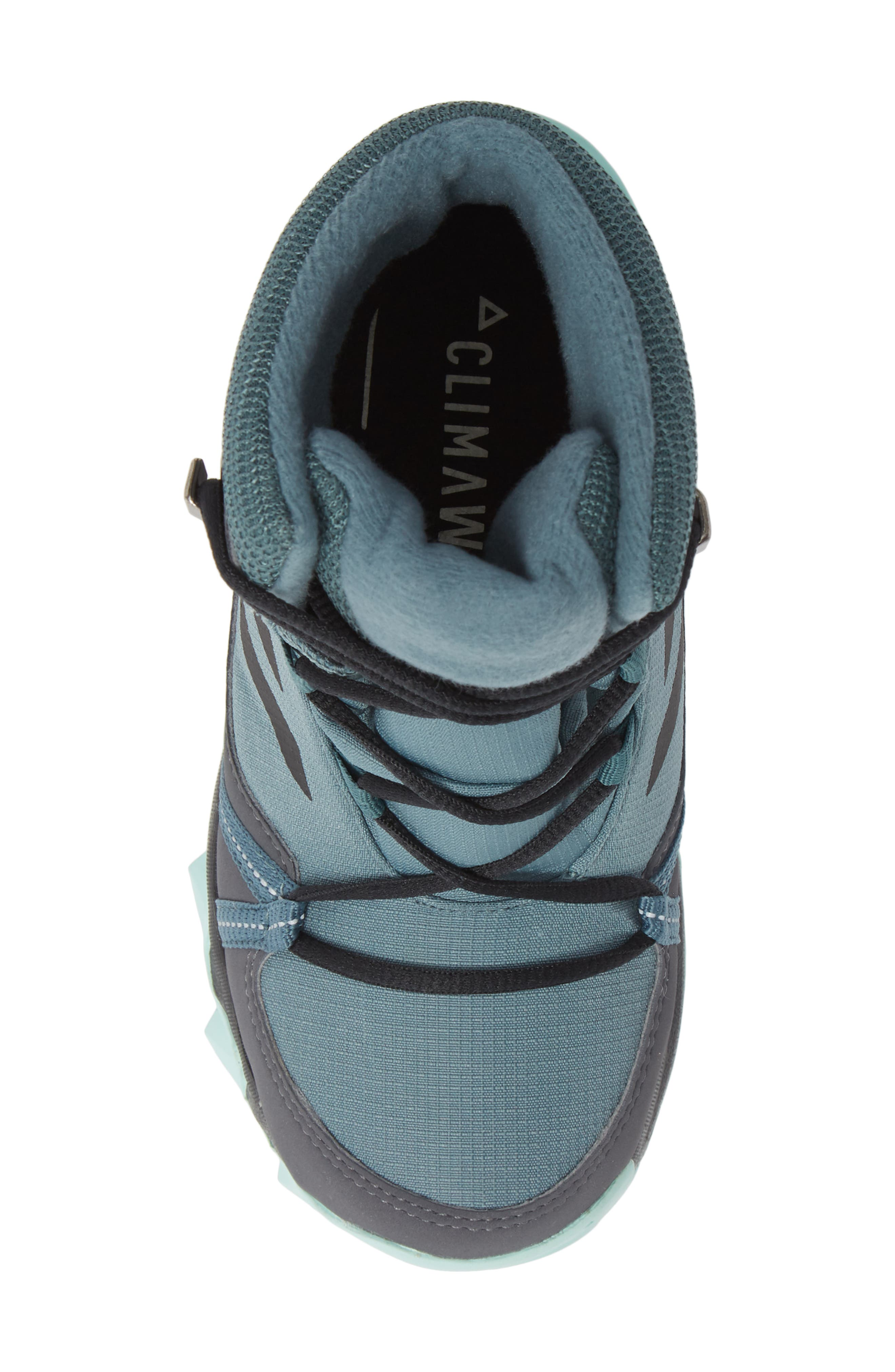 Terrex Snow CP CW Insulated Waterproof Sneaker Boot,                             Alternate thumbnail 5, color,                             CLEAR MINT/ CARBON/ AQUA