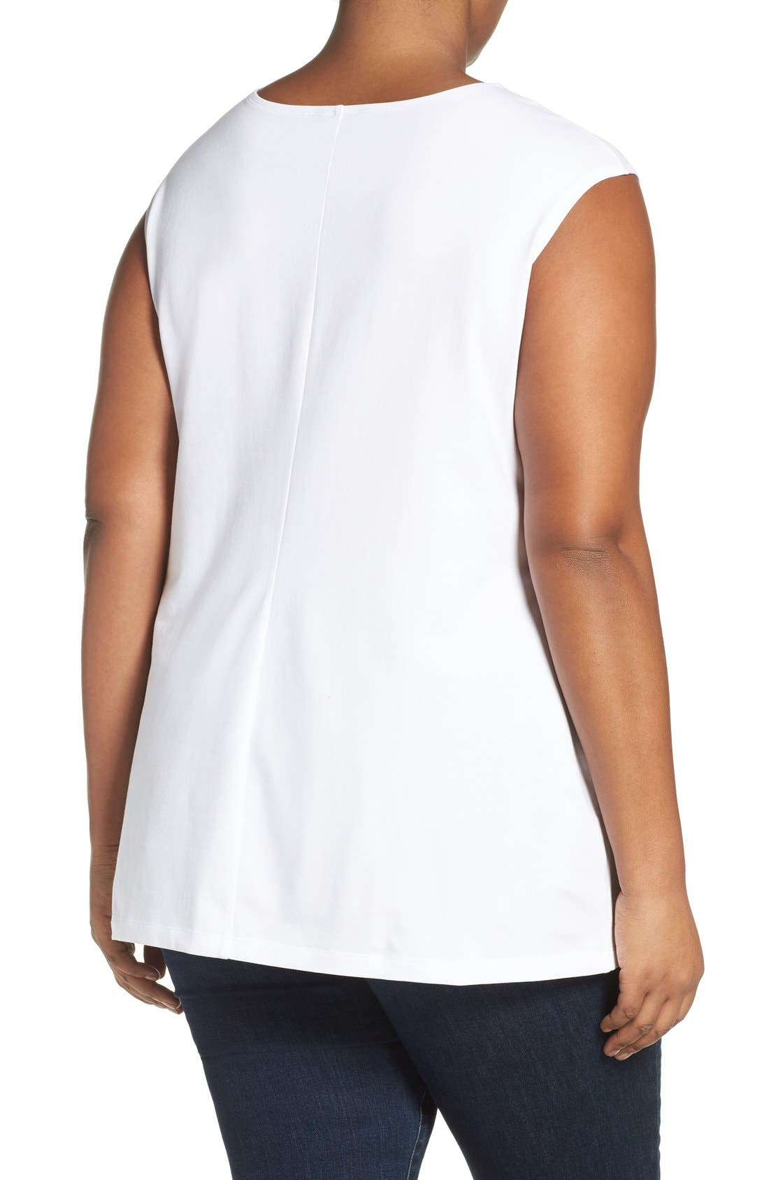 'Perfect Layer' Tank,                             Alternate thumbnail 3, color,                             PAPER WHITE
