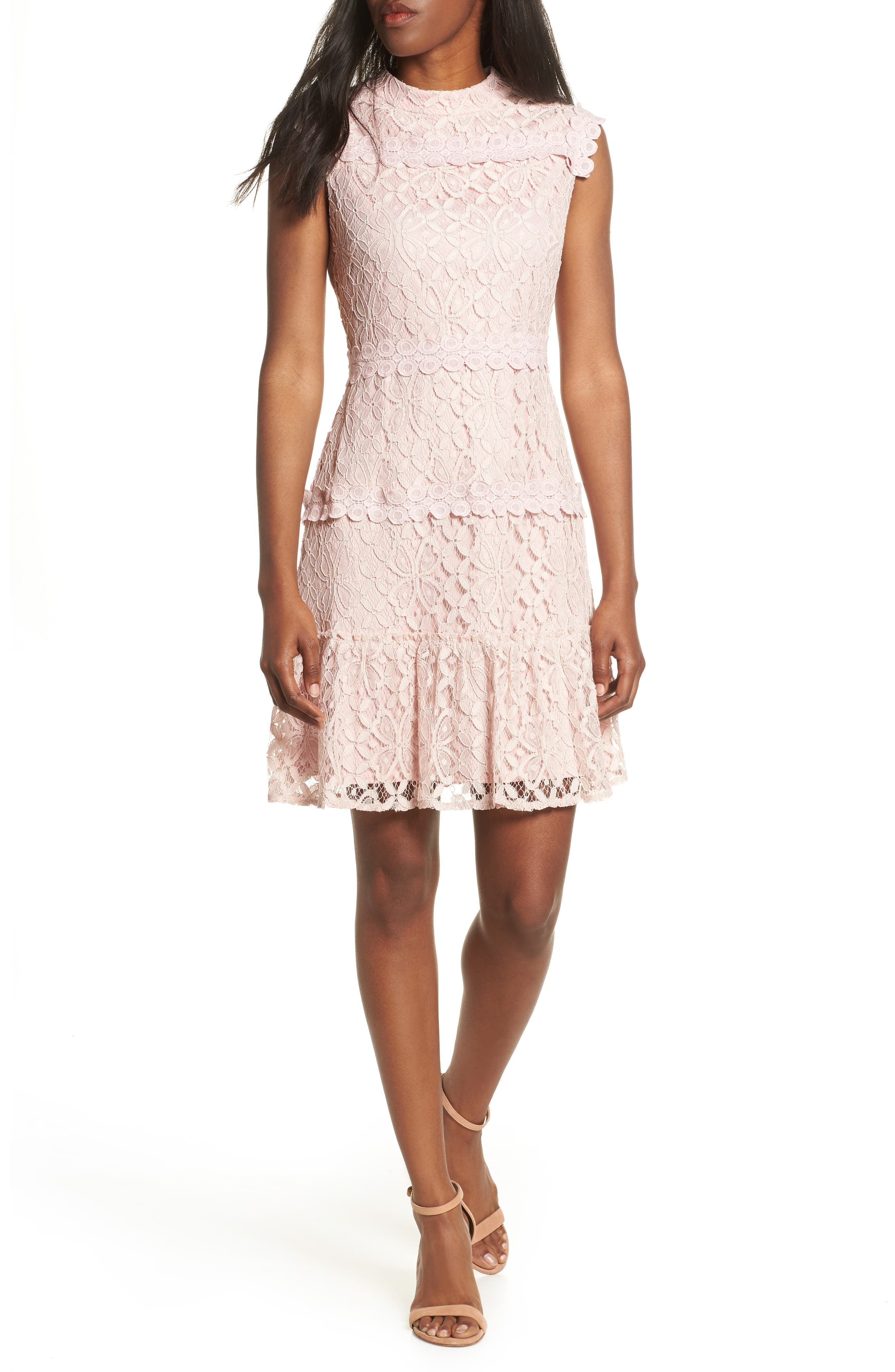 Julia Jordan Lace Sheath Dress, Pink