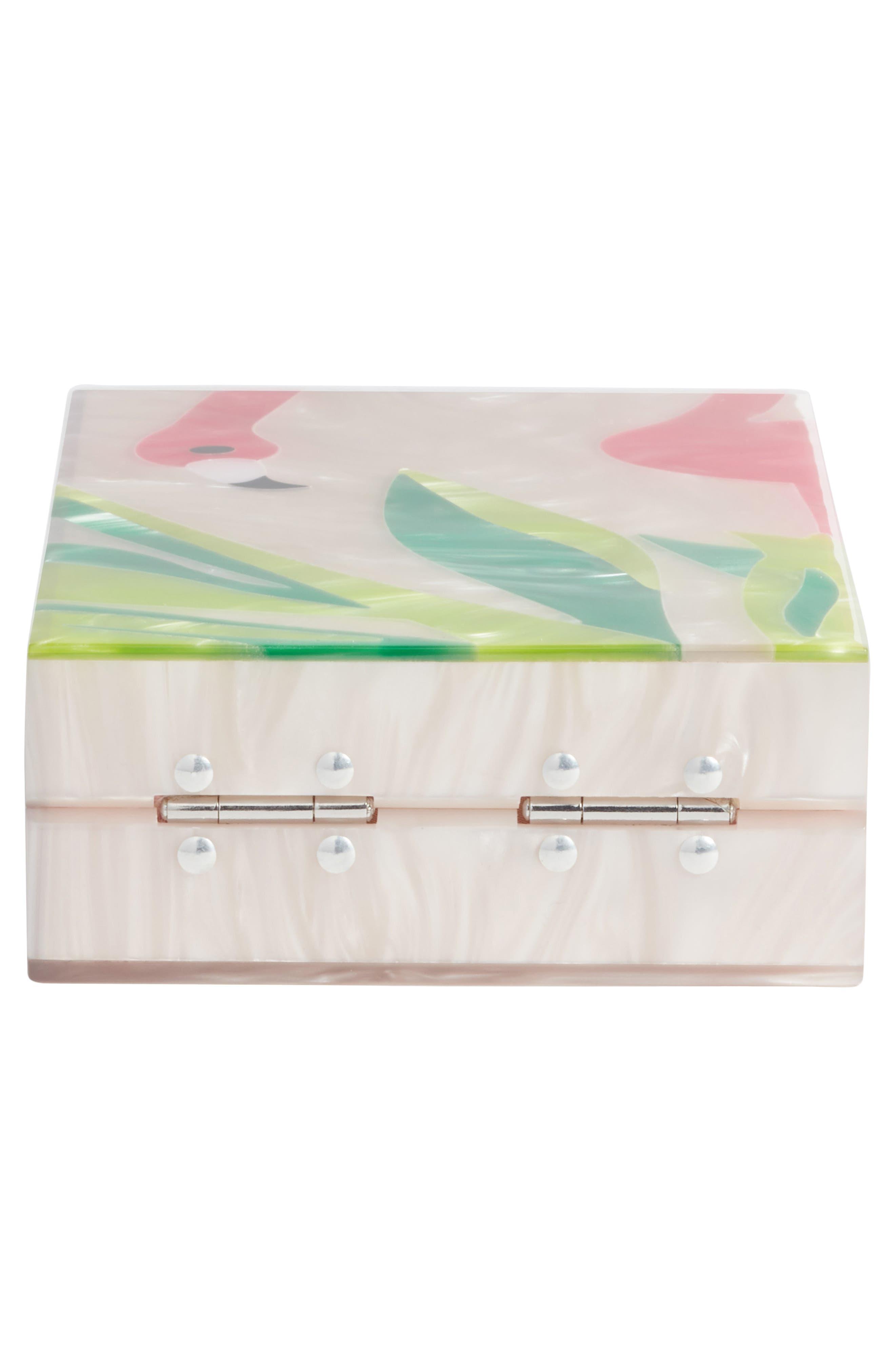 Flamingo Box Clutch,                             Alternate thumbnail 6, color,                             270
