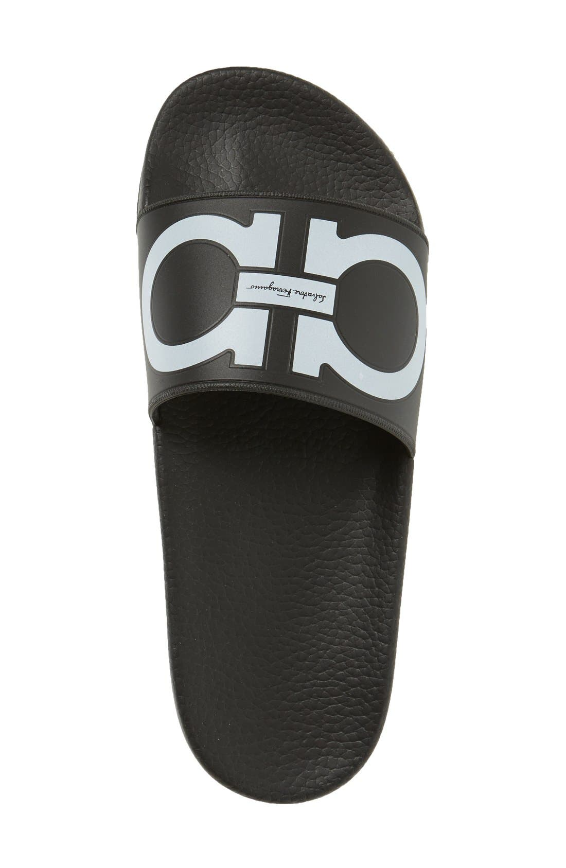Groove Logo Slide Sandal,                             Alternate thumbnail 3, color,                             001