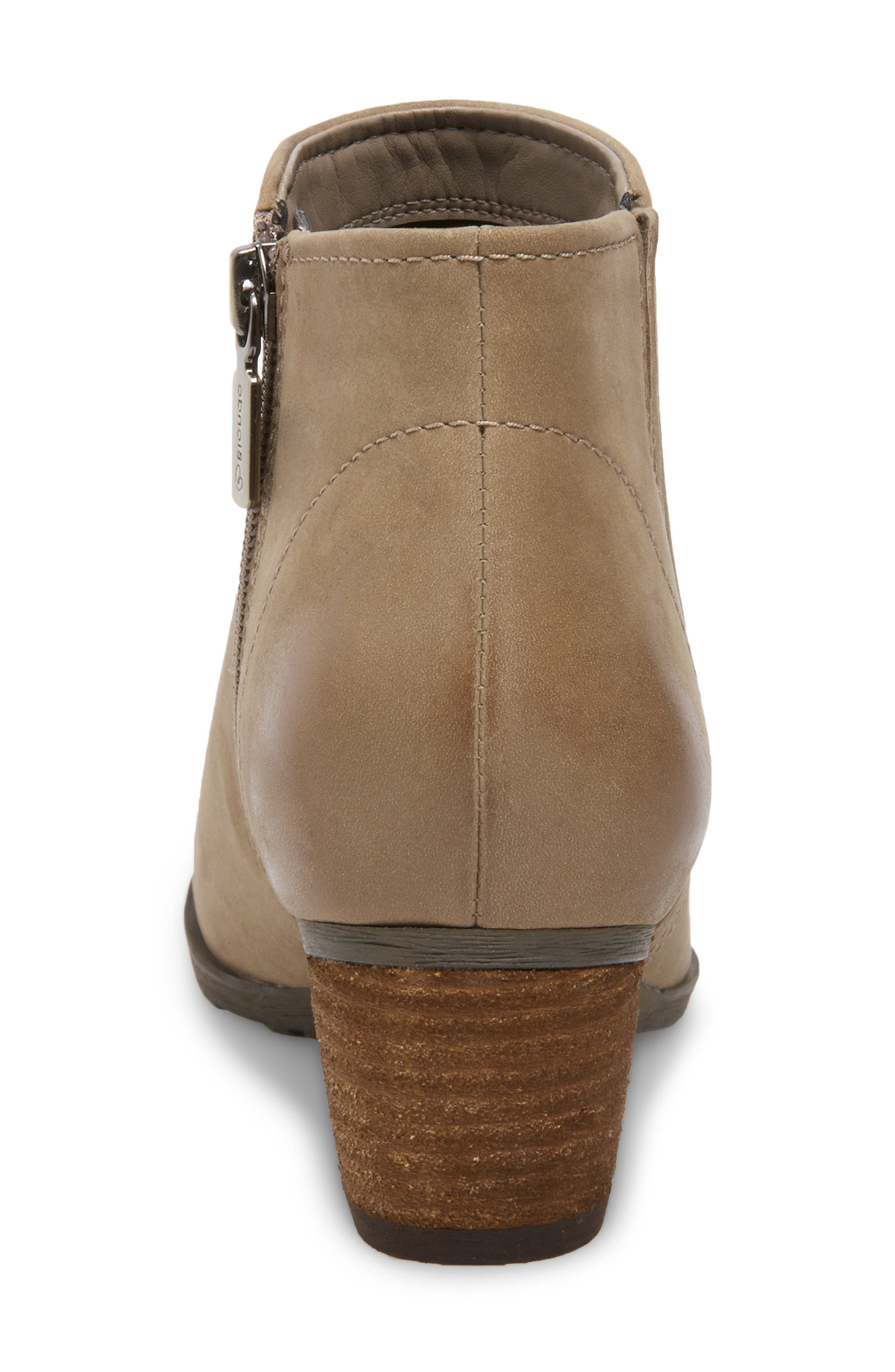 'Valli' Waterproof  Bootie,                             Alternate thumbnail 7, color,                             MUSHROOM NUBUCK