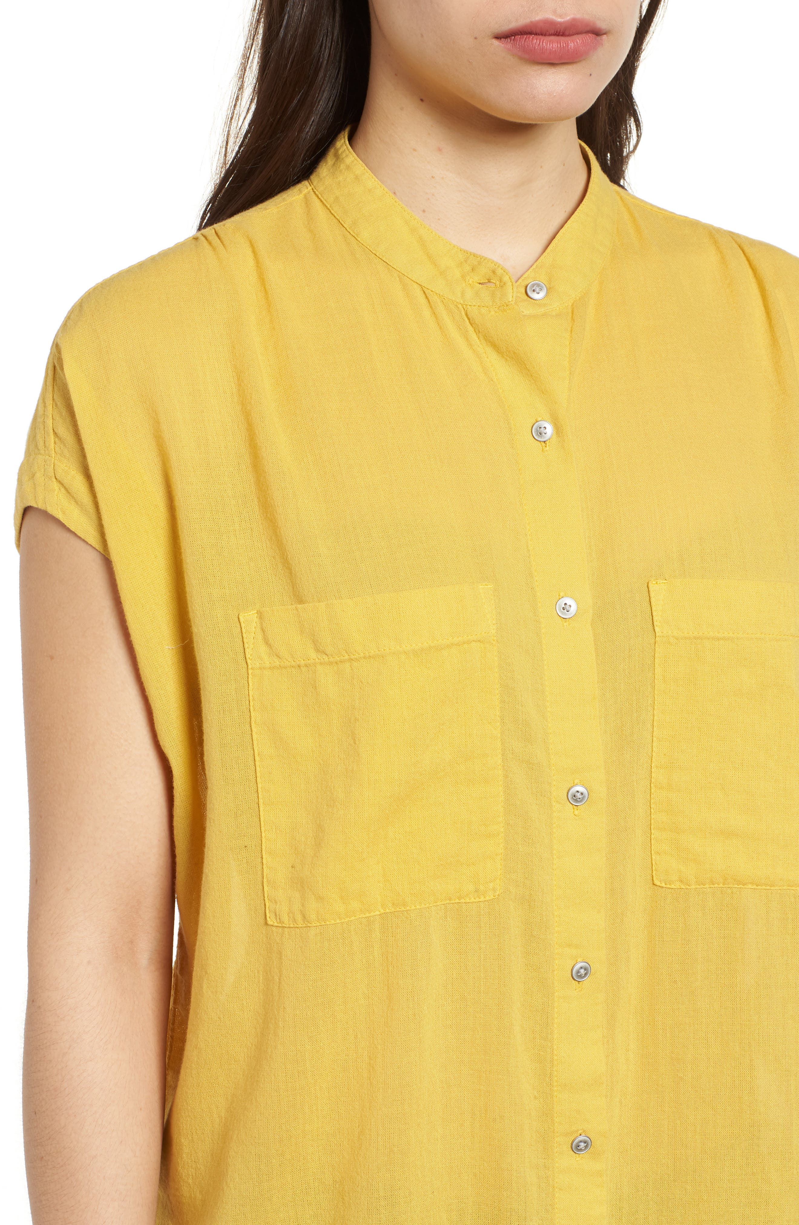 Button Front Longline Top,                             Alternate thumbnail 31, color,