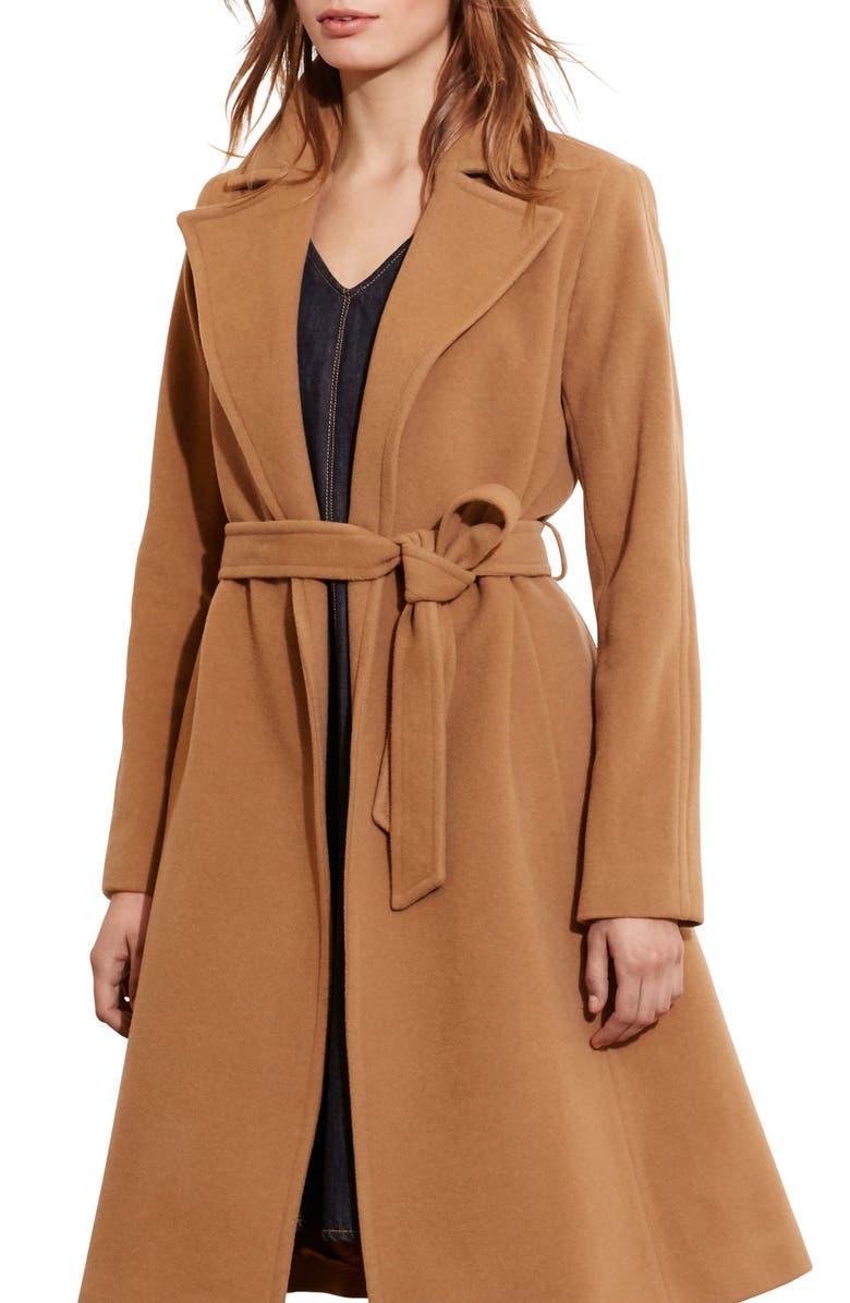 edf1abf496a1 Lauren Ralph Lauren Wool Blend Wrap Coat (Regular   Petite) (Online ...