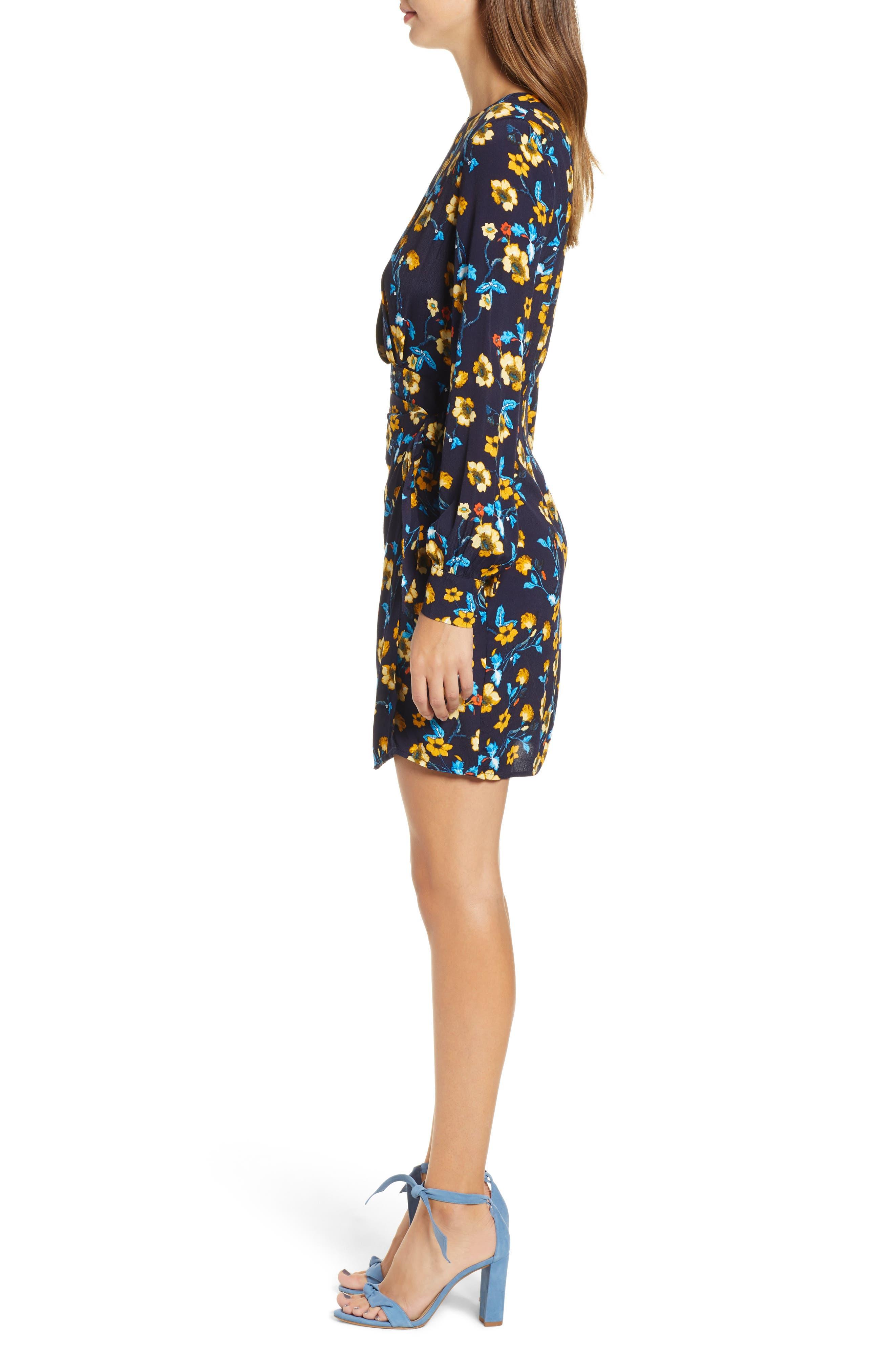 Apron Front Long Sleeve Dress,                             Alternate thumbnail 3, color,                             400