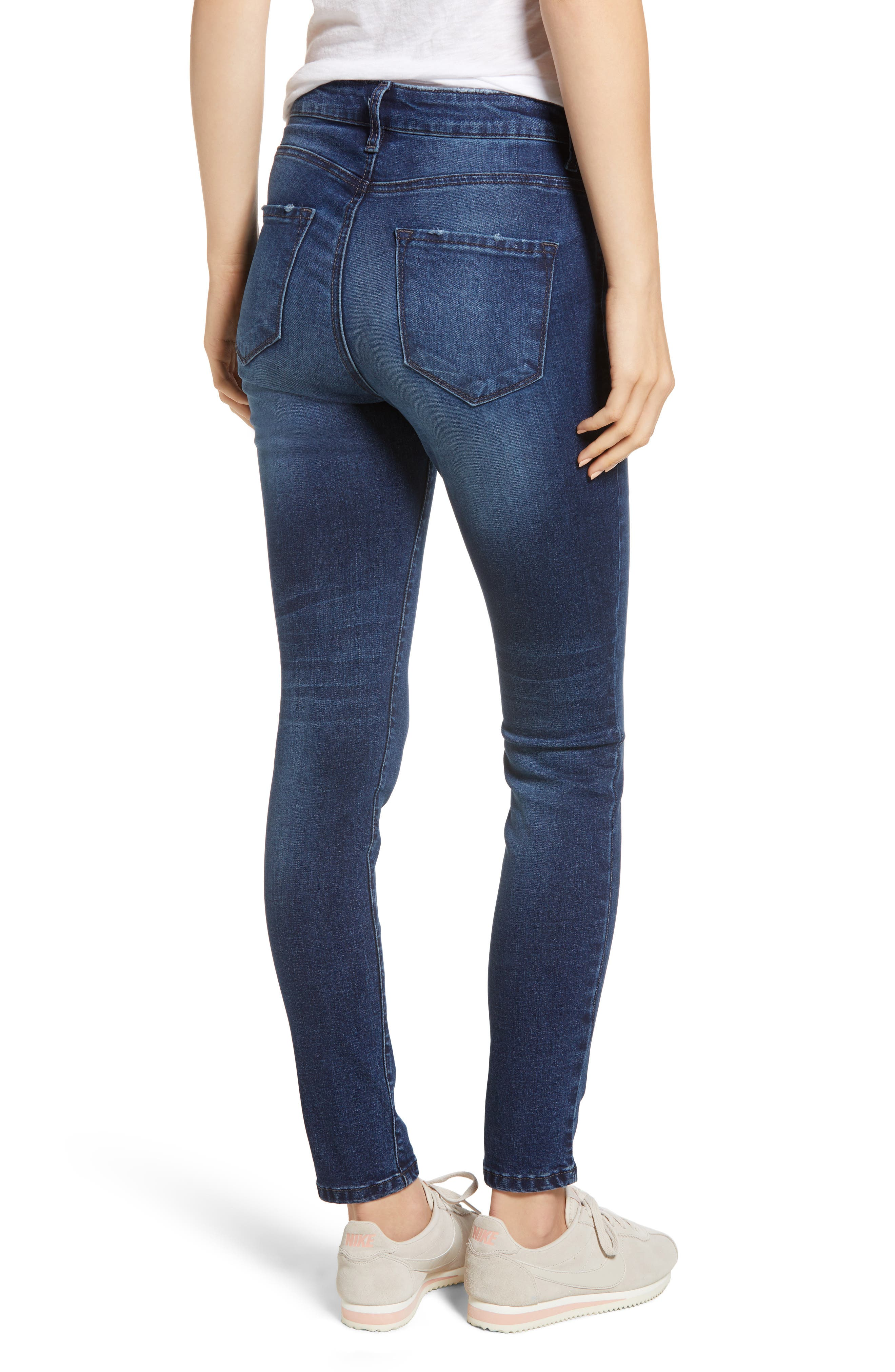 BP.,                             High Rise Skinny Ankle Jeans,                             Alternate thumbnail 2, color,                             MEDIUM WASH
