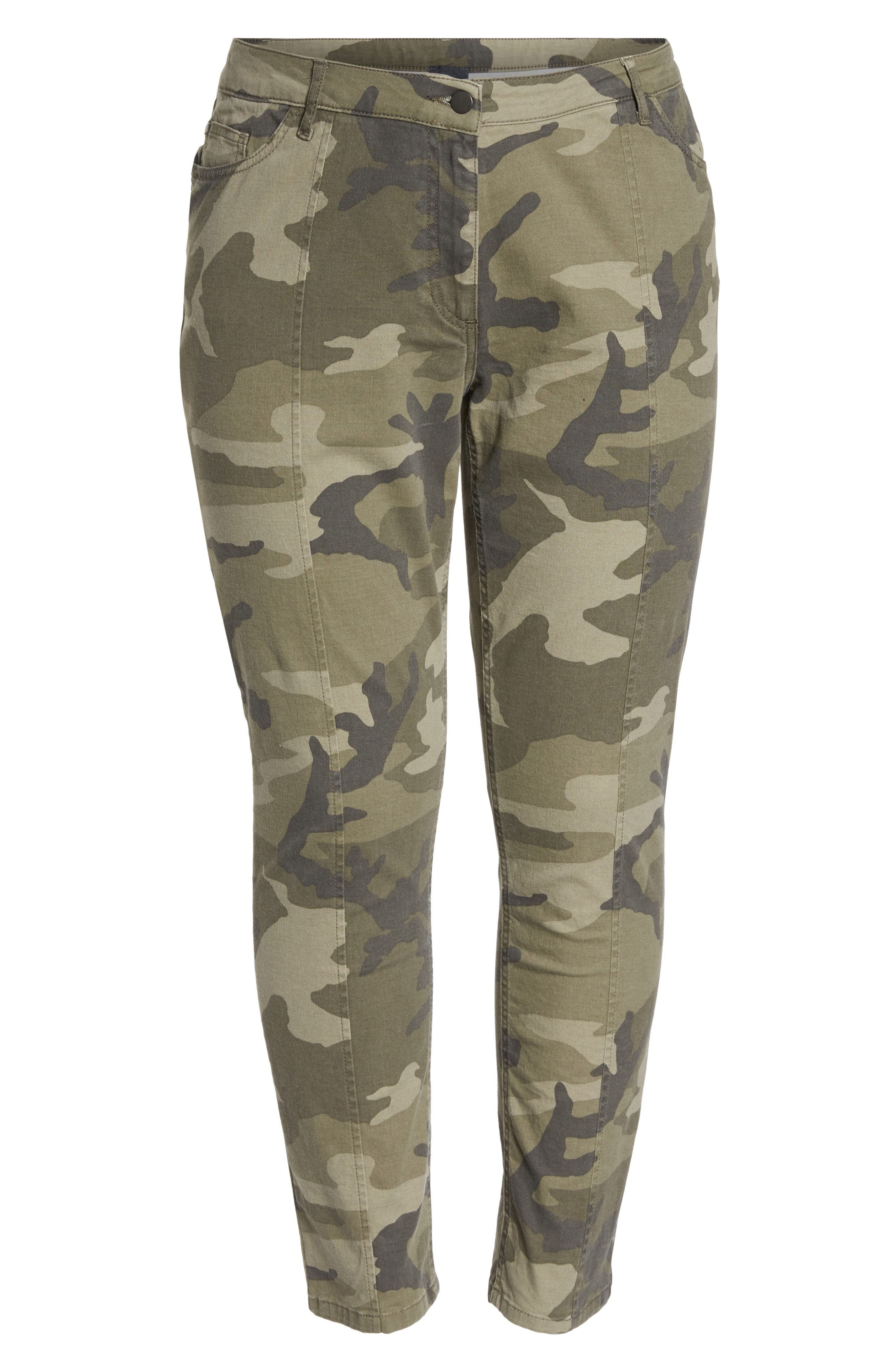 Camo Denim Pants,                             Alternate thumbnail 6, color,                             218