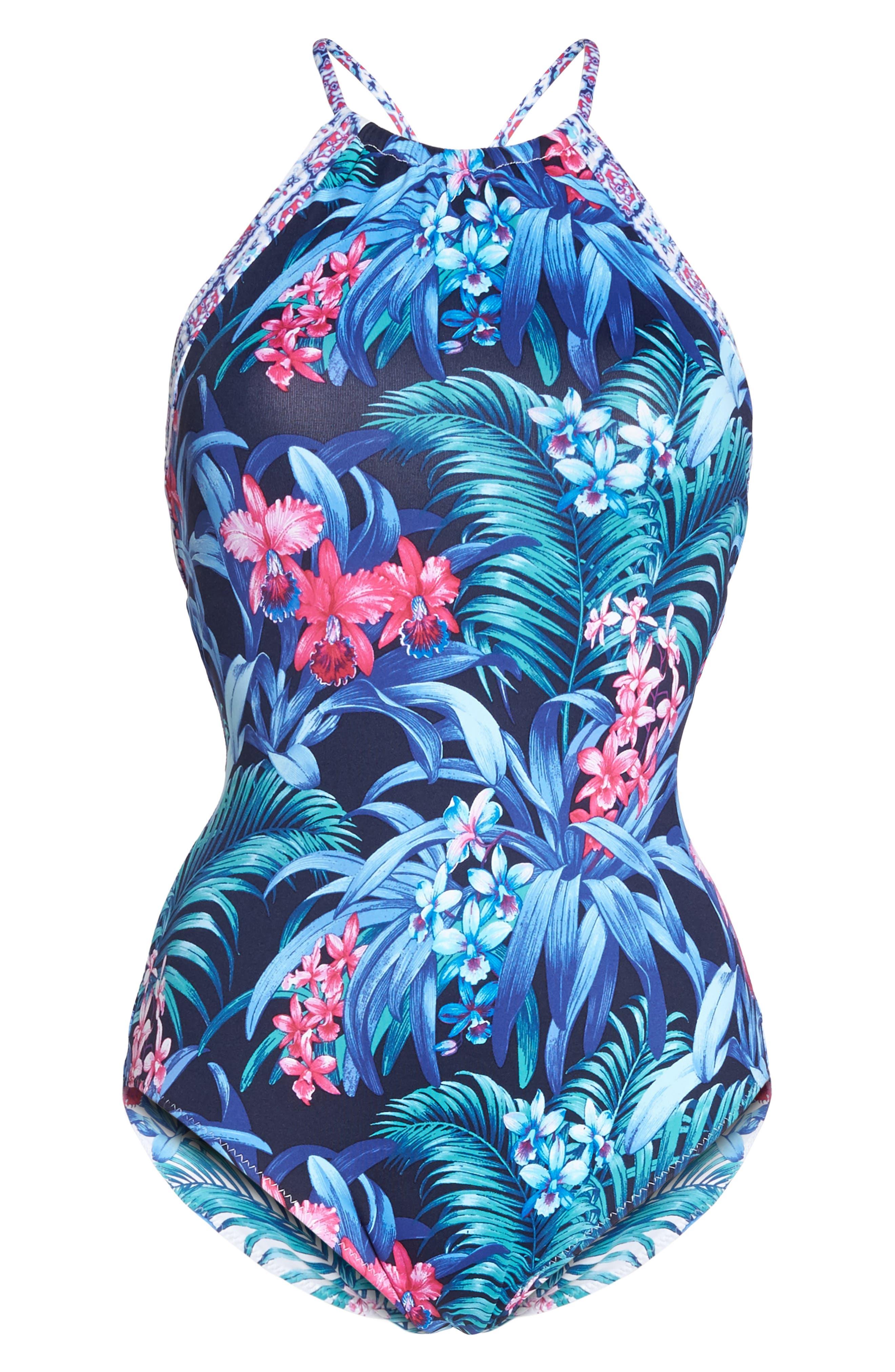 Majorelle Reversible One-Piece Swimsuit,                             Alternate thumbnail 6, color,                             400