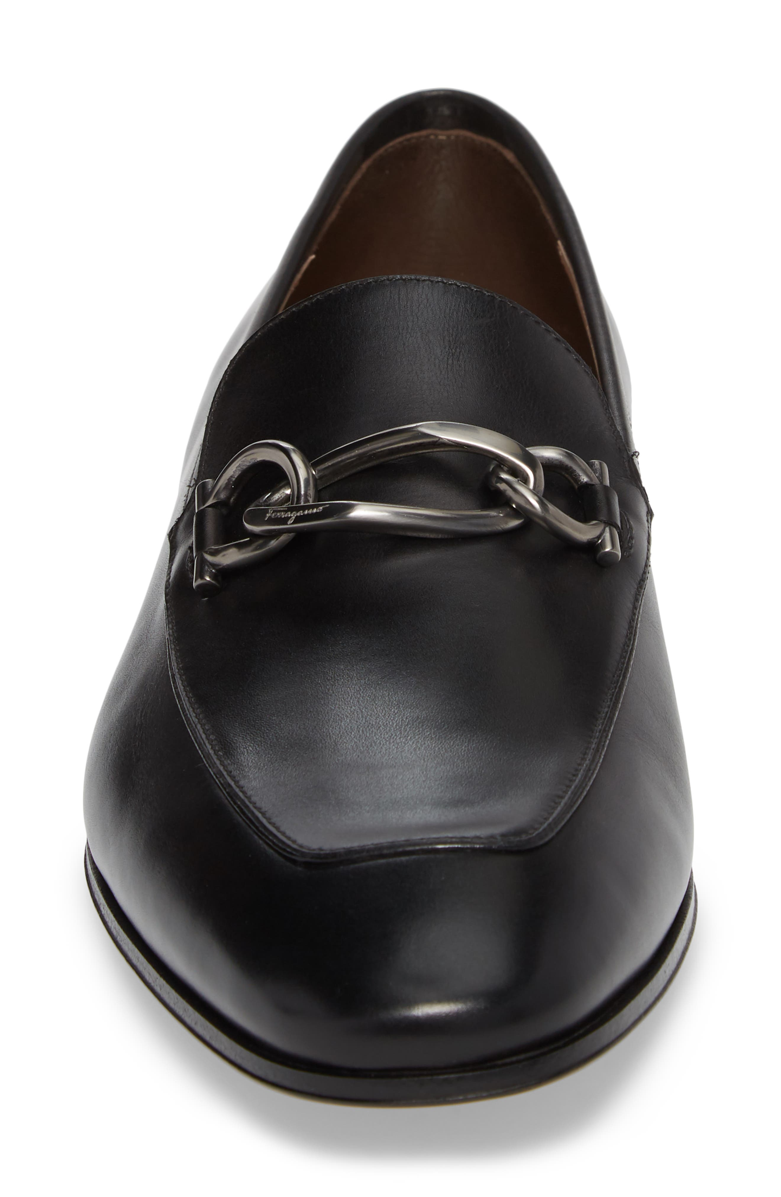 Boy Chain Bit Loafer,                             Alternate thumbnail 4, color,                             NERO LEATHER