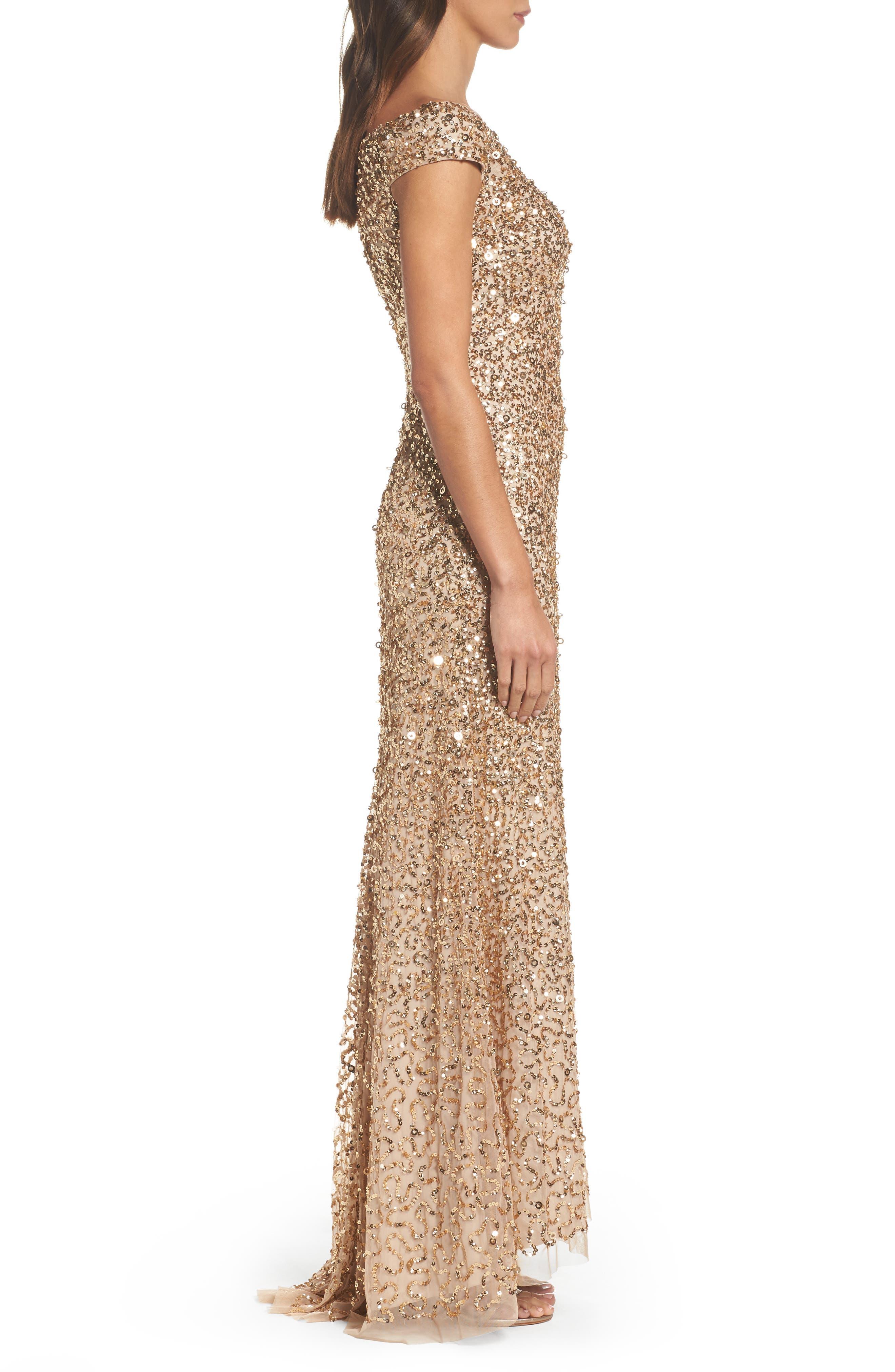 Sequin Mesh Gown,                             Alternate thumbnail 13, color,