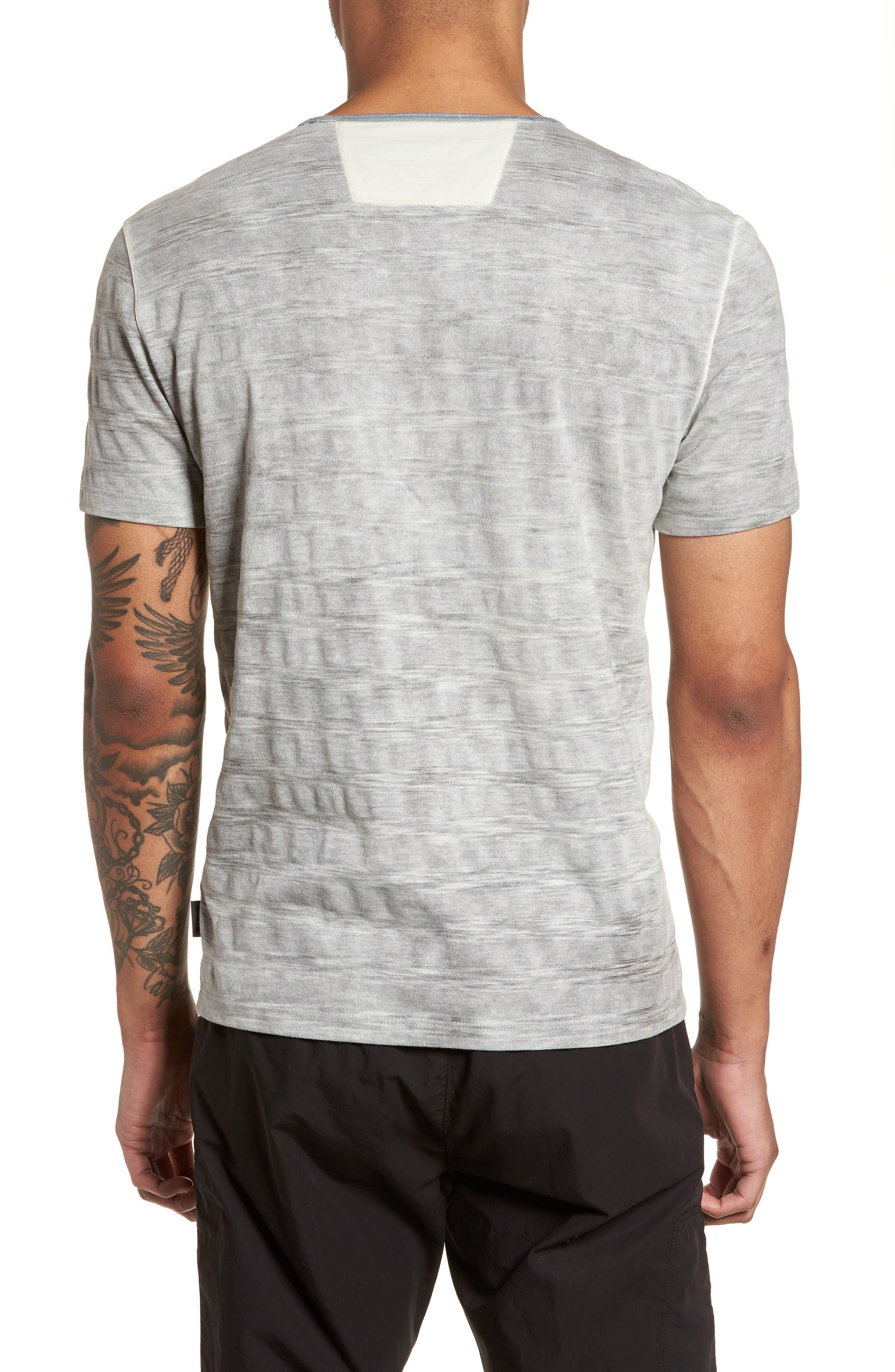 Slim Fit Ombré Stripe T-Shirt,                             Alternate thumbnail 2, color,                             077