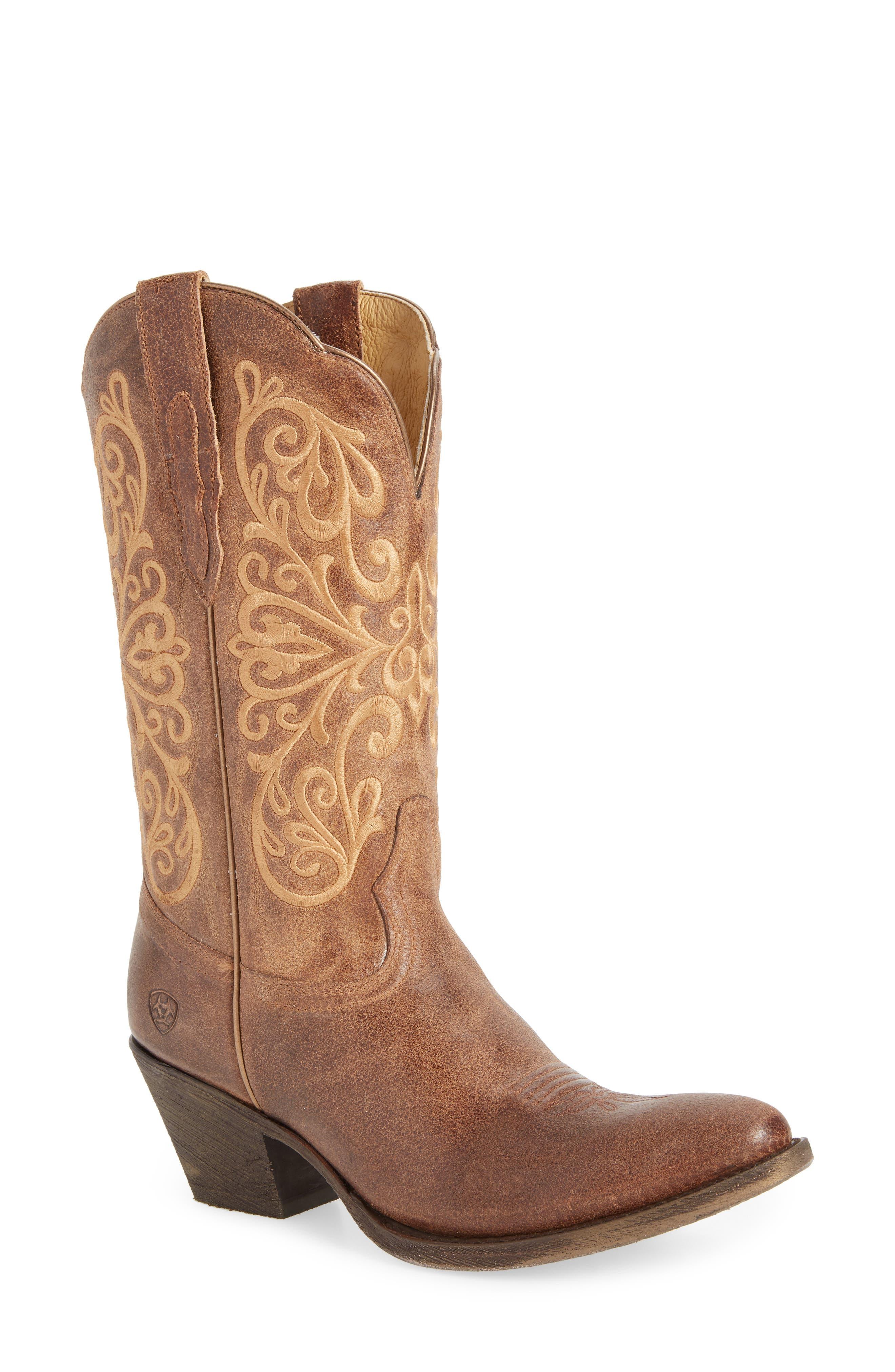 Terra Bella Western Boot,                         Main,                         color, TURNBACK TAN LEATHER
