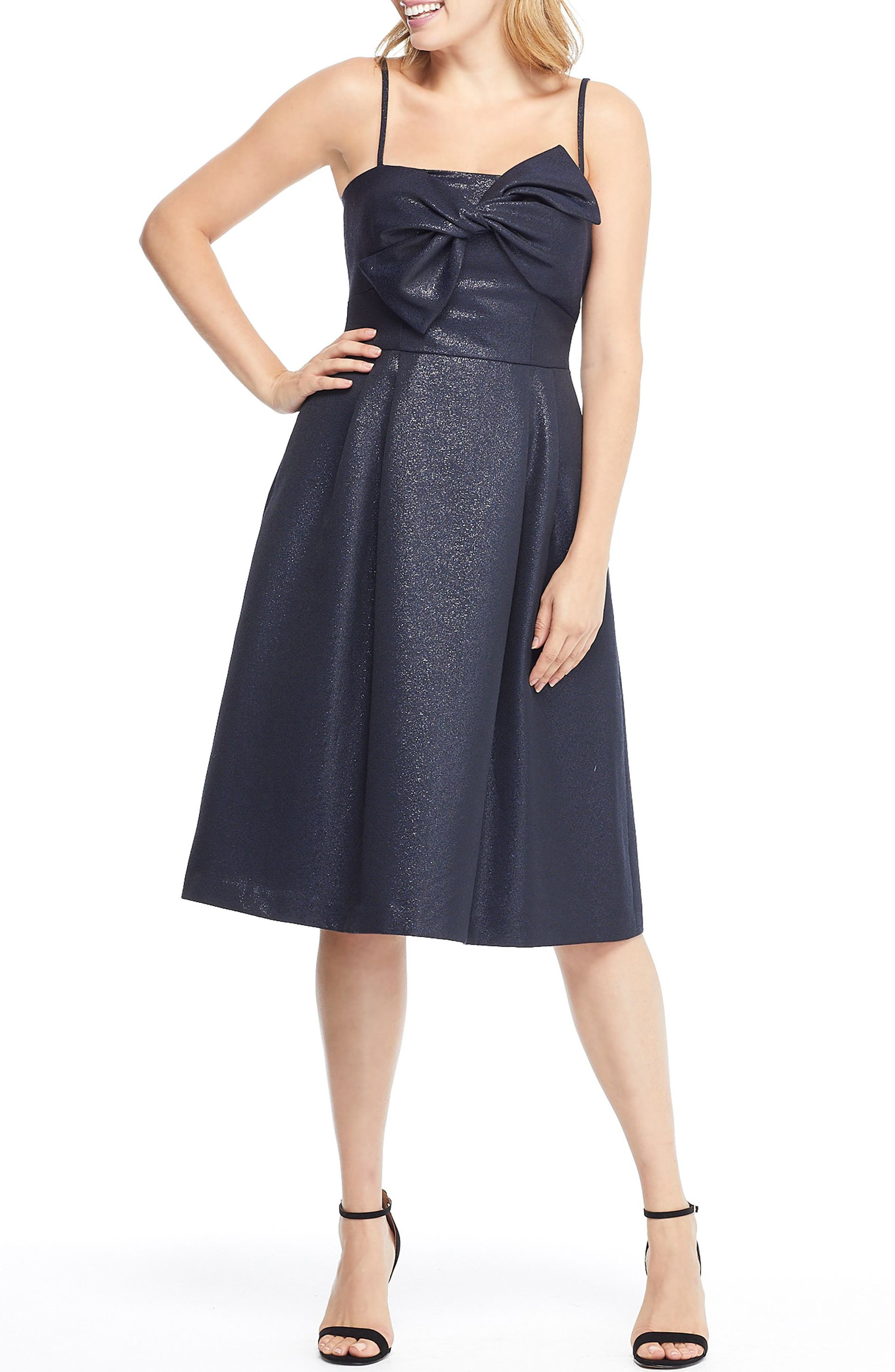 Gal Meets Glam Collection Lucille Starry Night Fit & Flare Dress, Blue