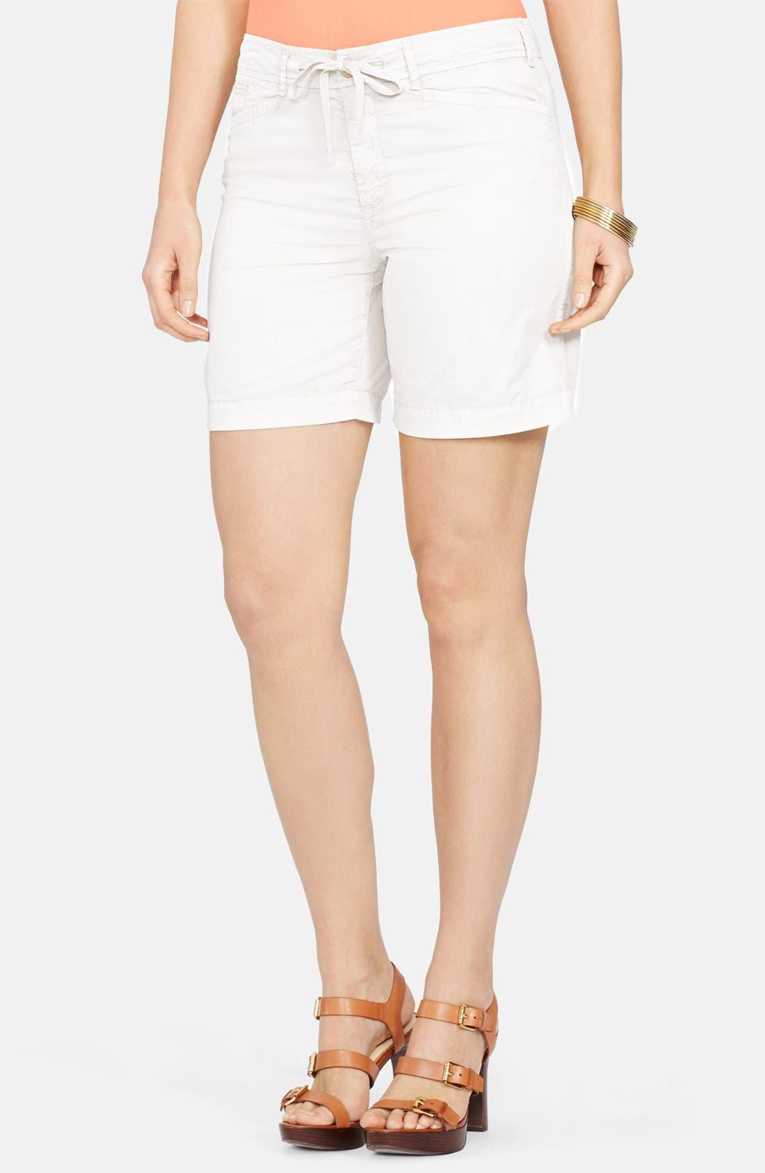 Drawstring Chino Shorts, Main, color, 100
