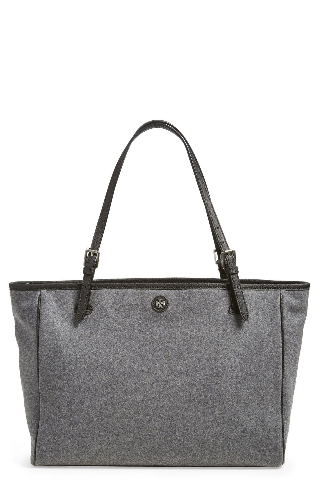 'York' Flannel Buckle Tote,                         Main,                         color, 020
