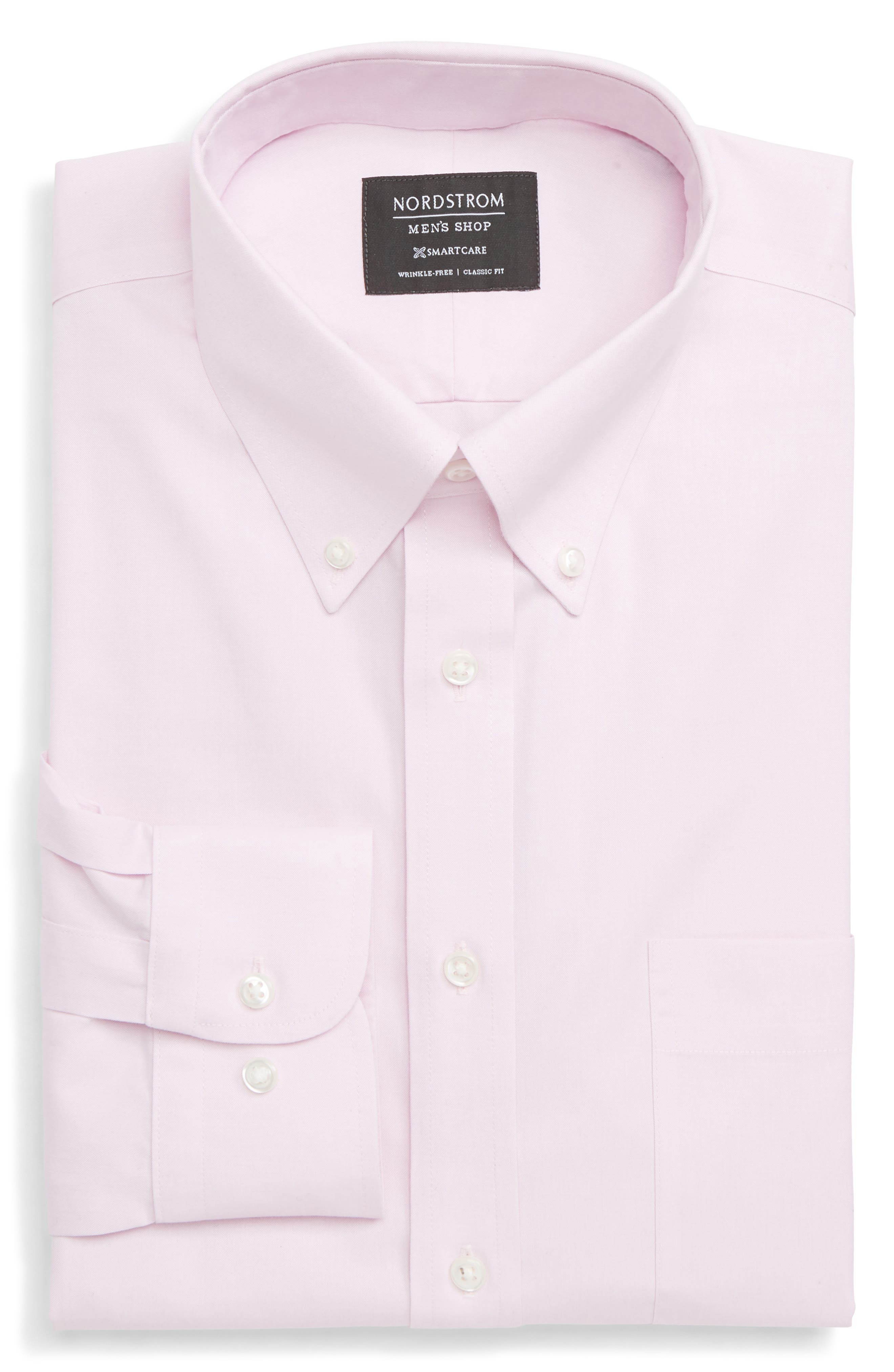 Nordstrom Shop Smartcare(TM) Classic Fit Dress Shirt - Pink