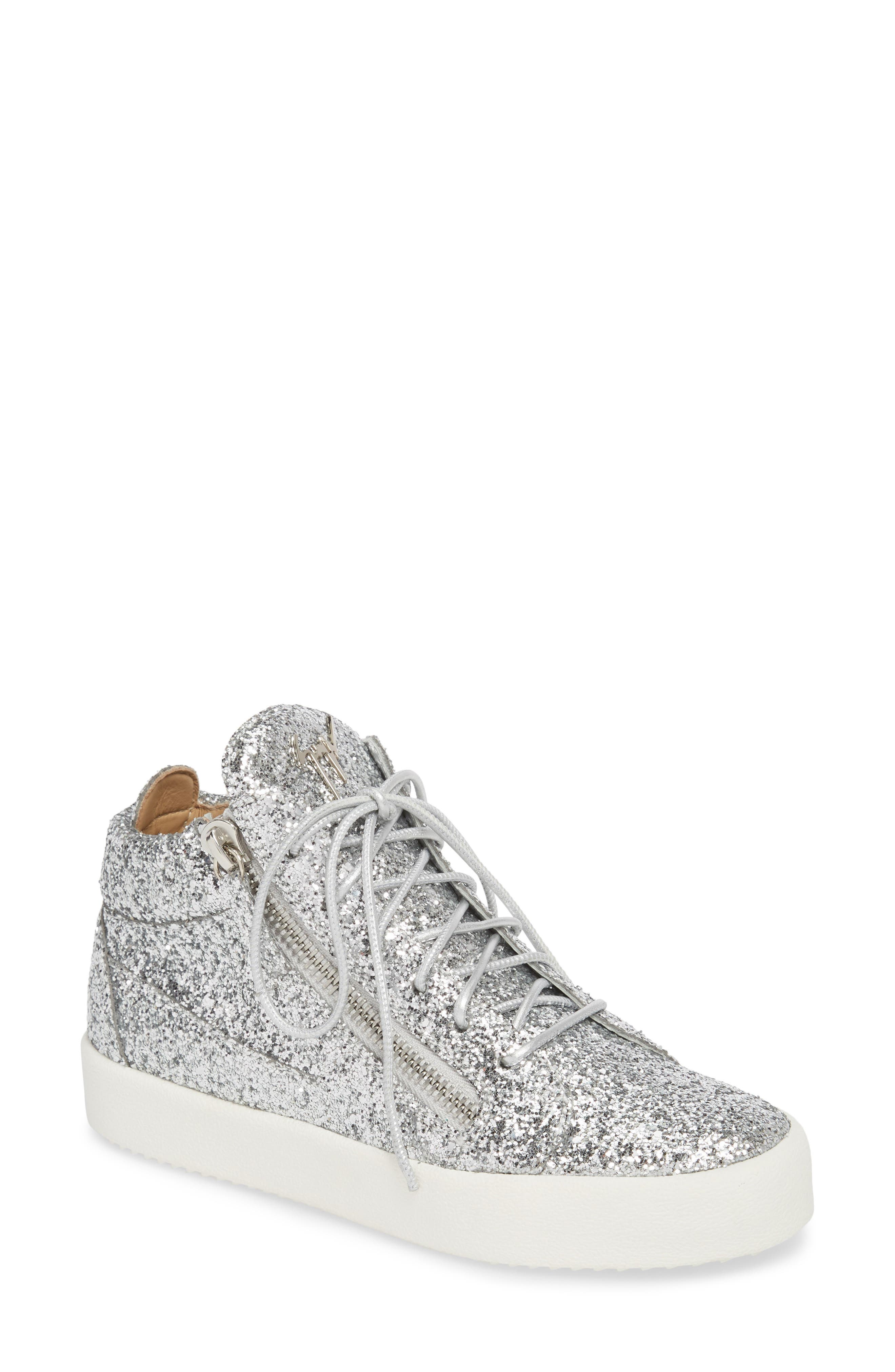 May London High Top Sneaker,                         Main,                         color, SILVER