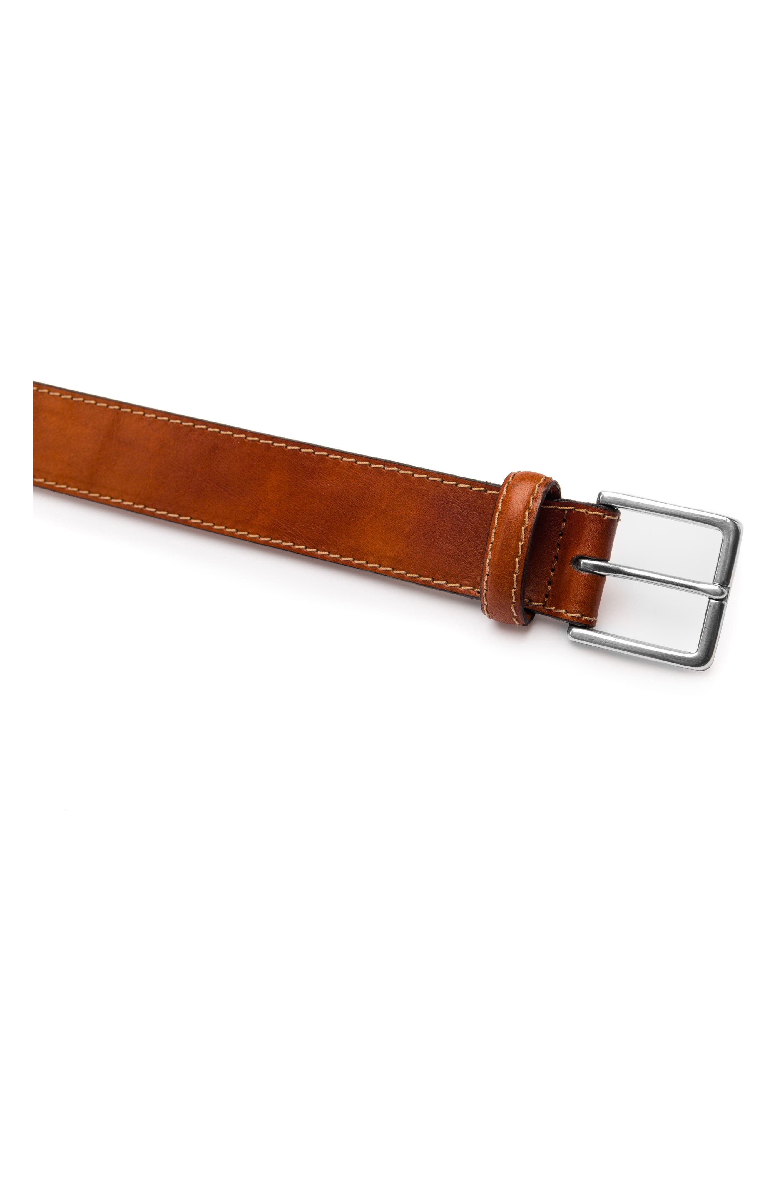 The Franco Leather Belt,                             Alternate thumbnail 2, color,                             AMBER