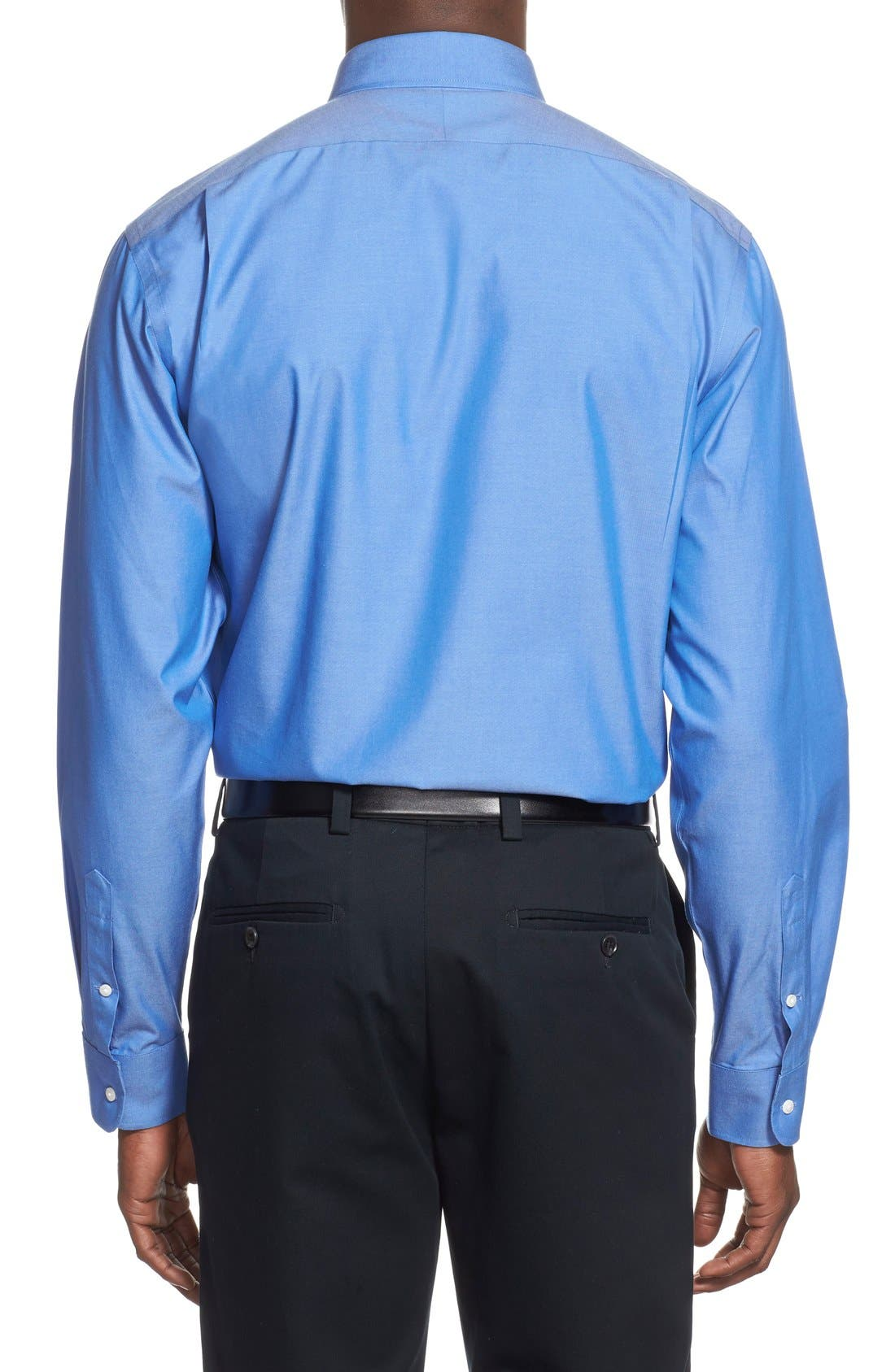 Smartcare<sup>™</sup> Traditional Fit Pinpoint Dress Shirt,                             Alternate thumbnail 77, color,