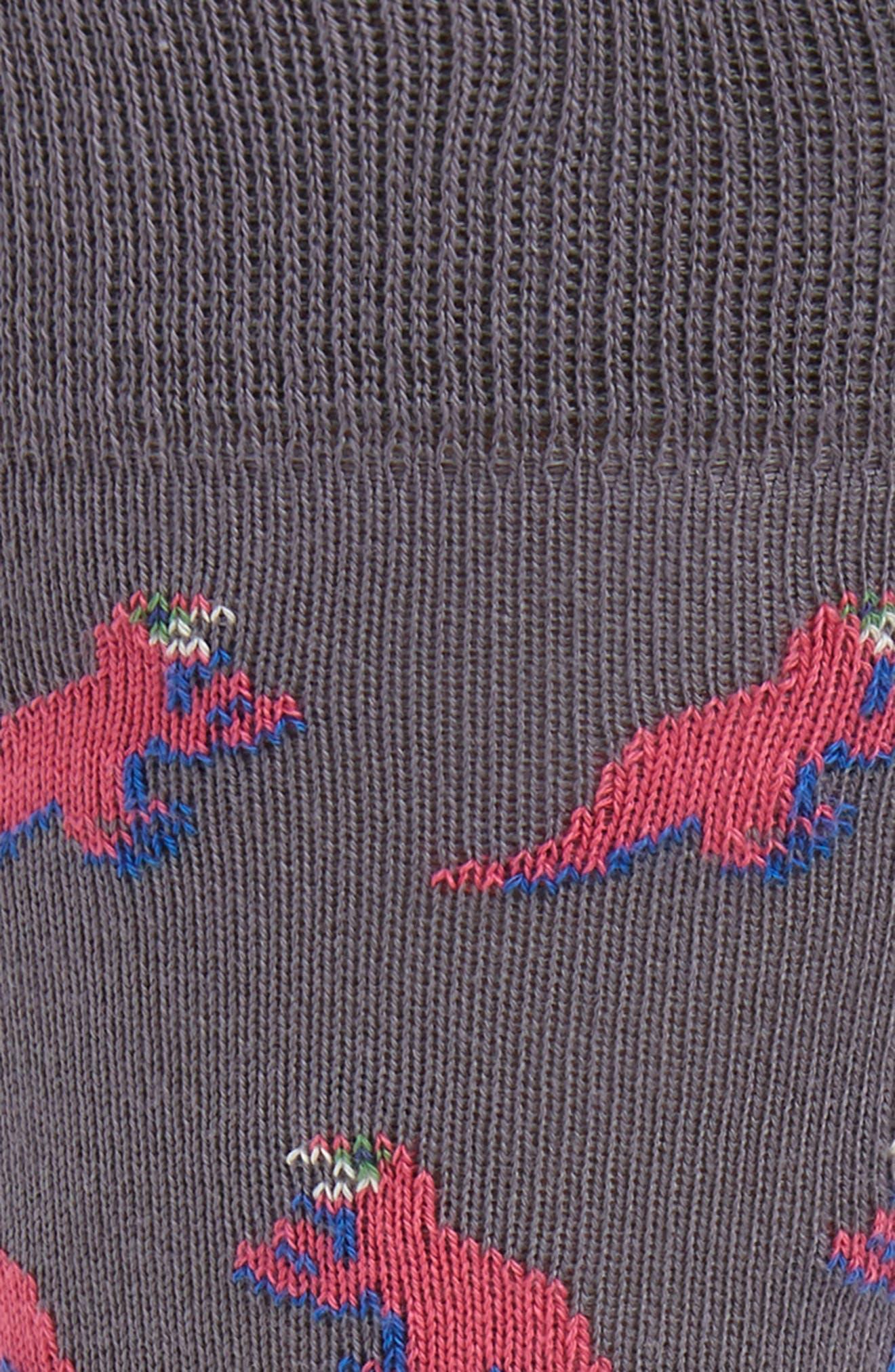Dino Jacquard Socks,                             Alternate thumbnail 2, color,                             GREY