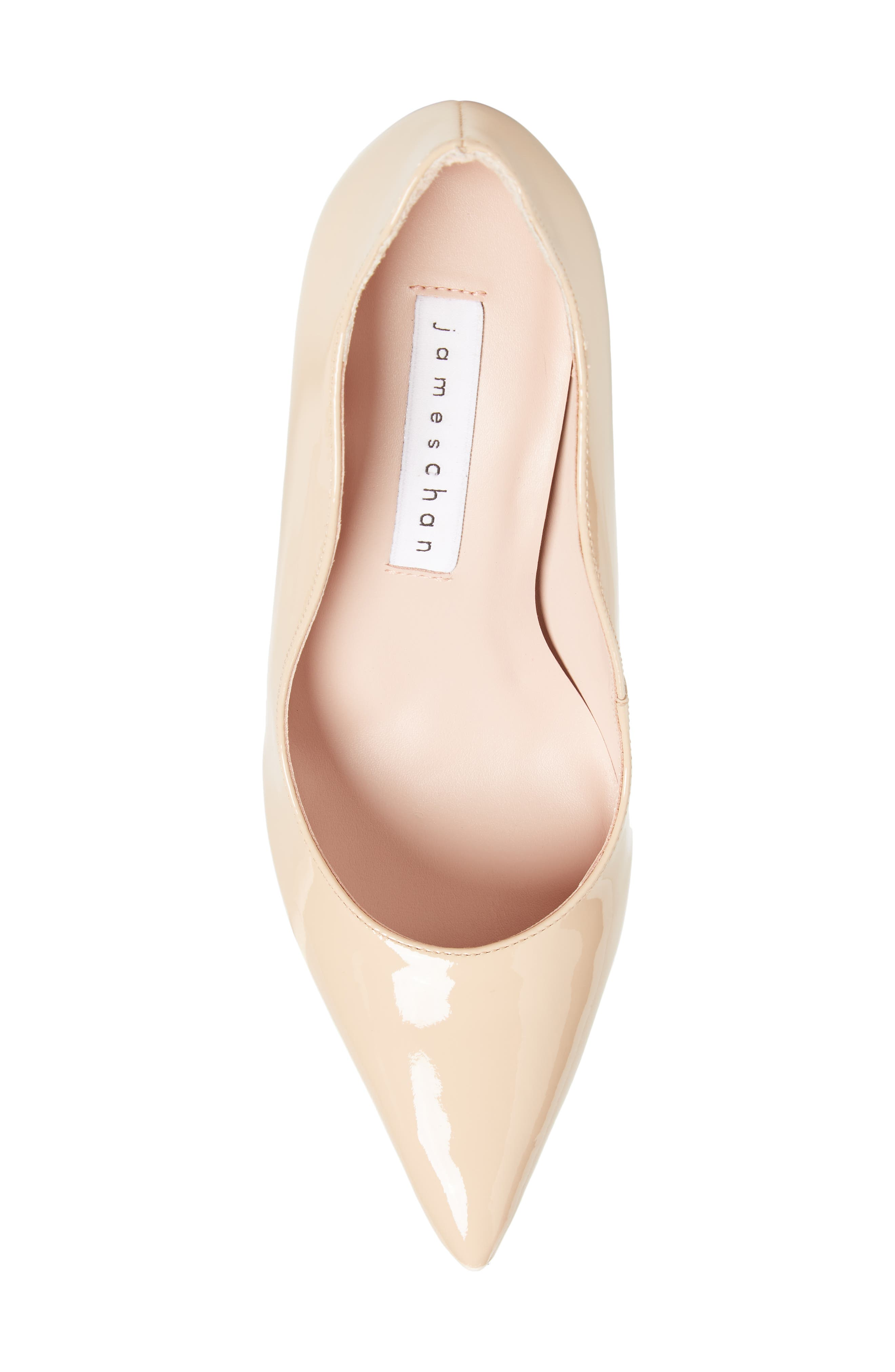 Anika Curvy Pump,                             Alternate thumbnail 5, color,                             NUDE SUEDE