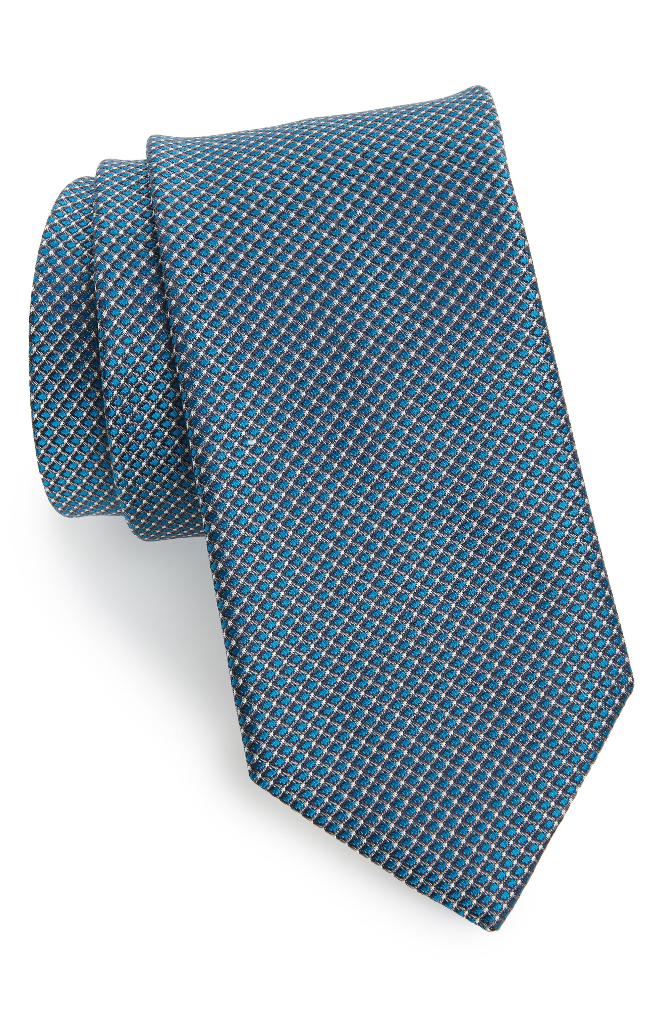 'Grayson Mini' Silk Tie,                         Main,                         color, 001