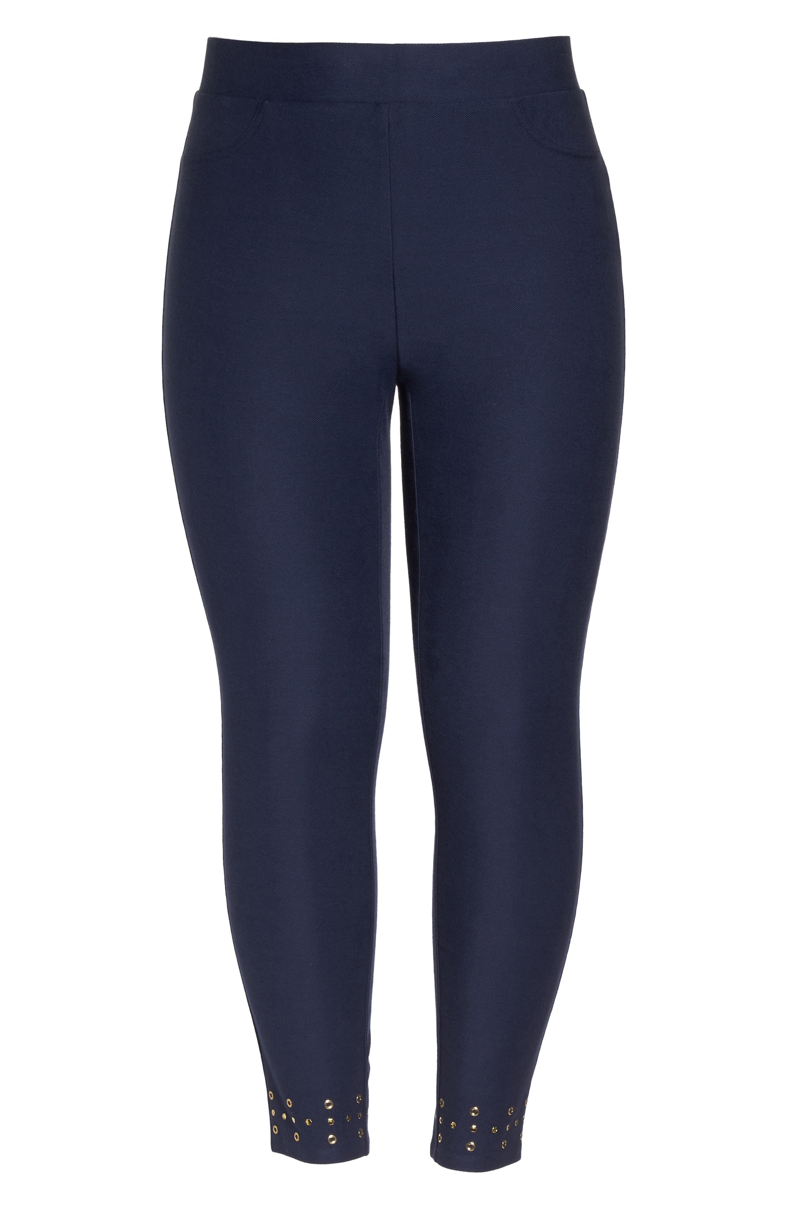 Embellished Cuff Leggings,                             Alternate thumbnail 7, color,                             TRUE NAVY