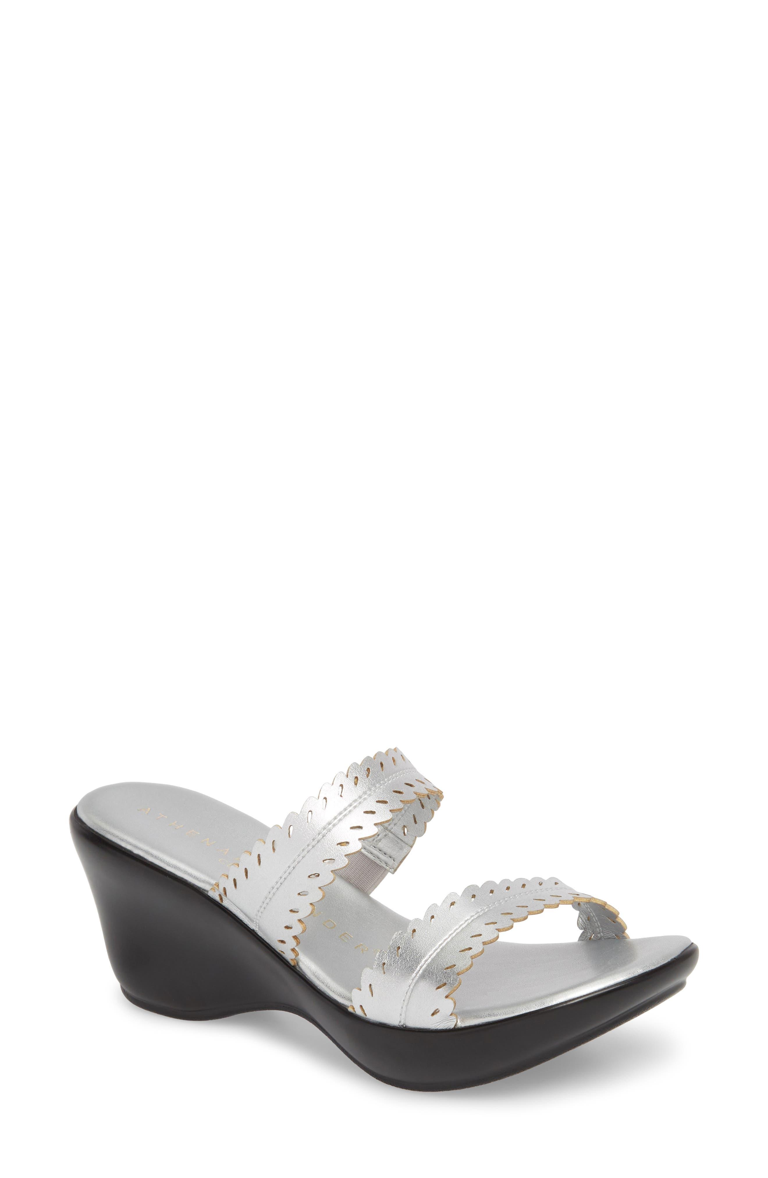 Athena Alexander Pouty Wedge Sandal- Metallic