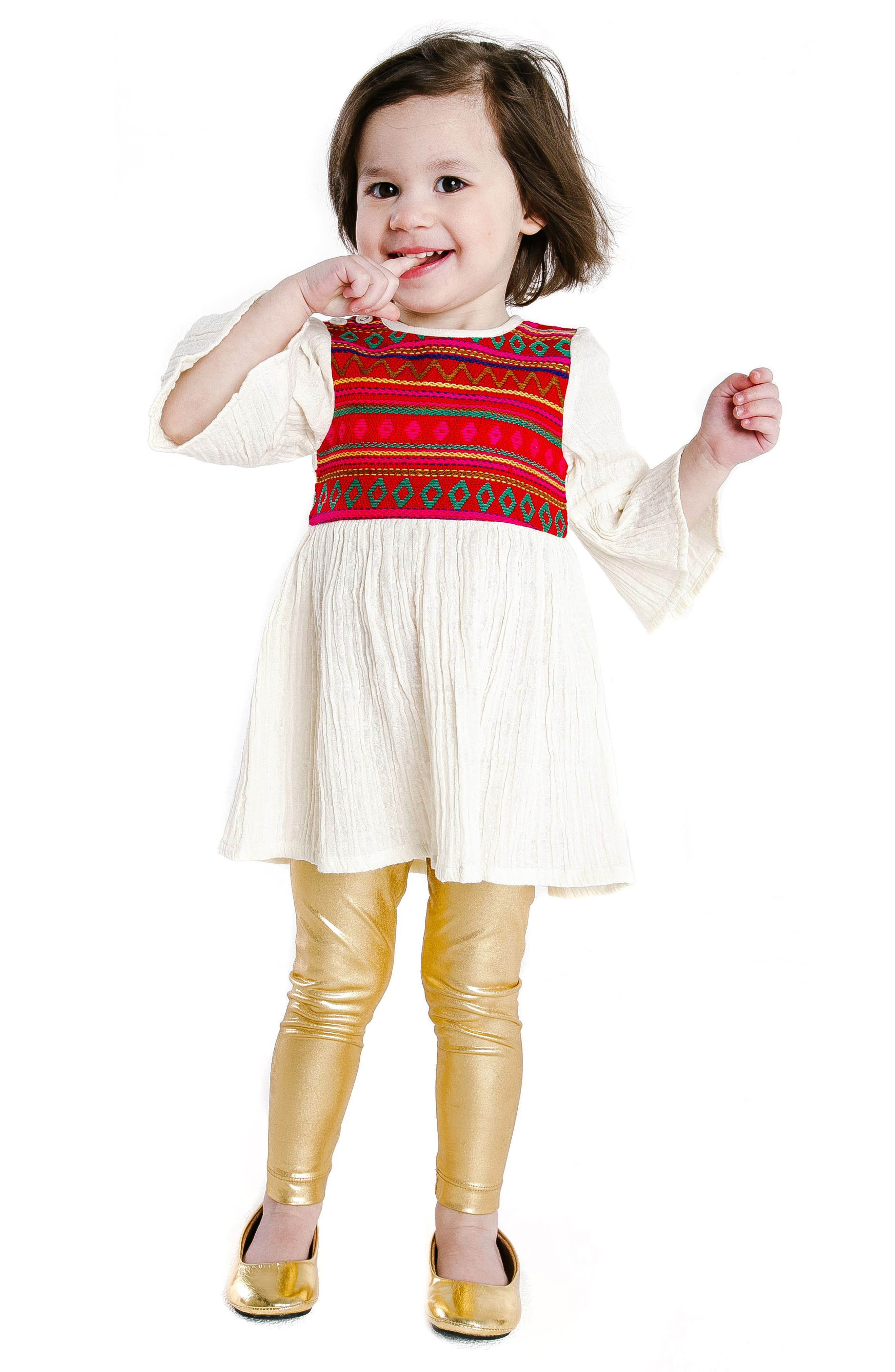 Simple Jacquard Dress,                             Alternate thumbnail 2, color,                             600