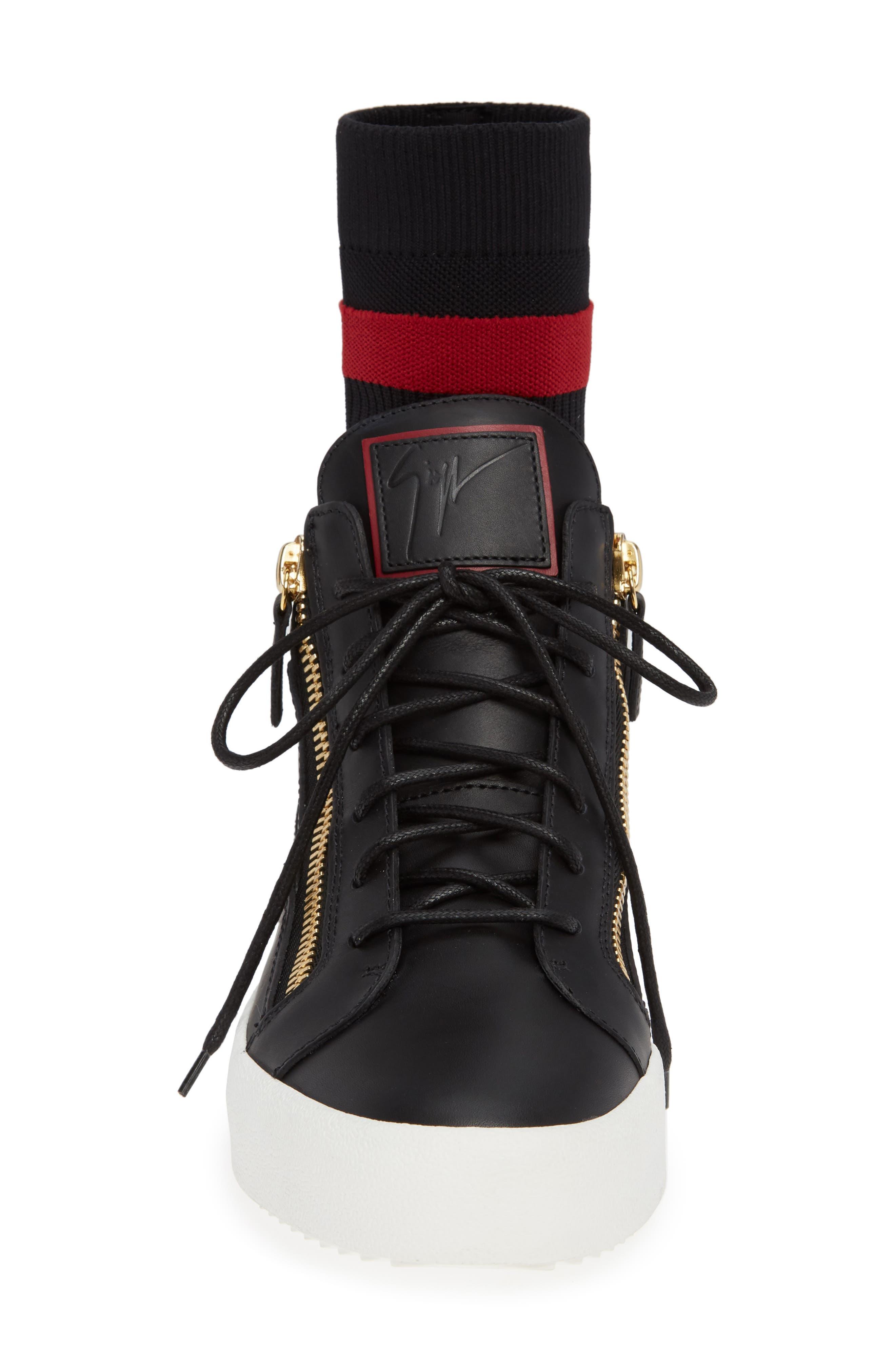 Mid-Top Sneaker,                             Alternate thumbnail 4, color,                             NERO