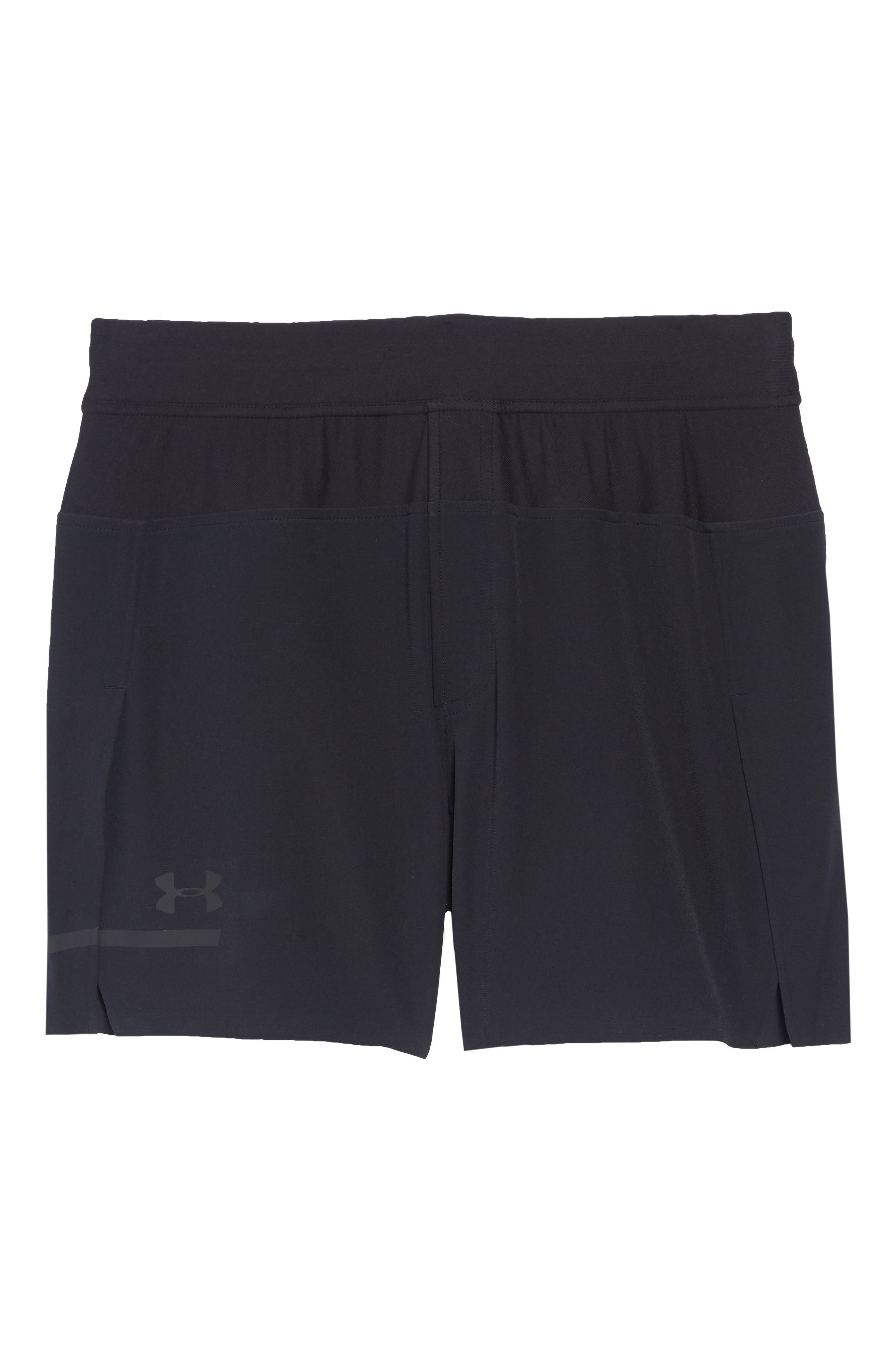 Perpetual Fitted Shorts,                             Alternate thumbnail 6, color,                             BLACK