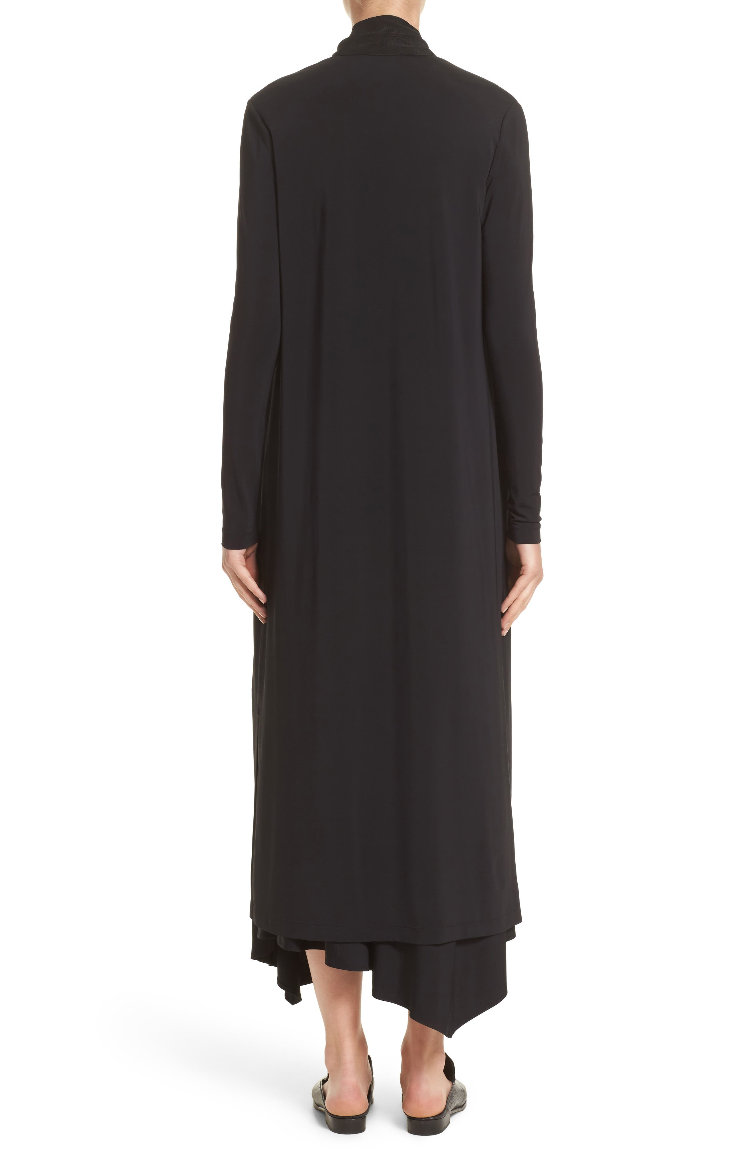 Cultivated Crepe Jersey Duster,                             Alternate thumbnail 2, color,                             001