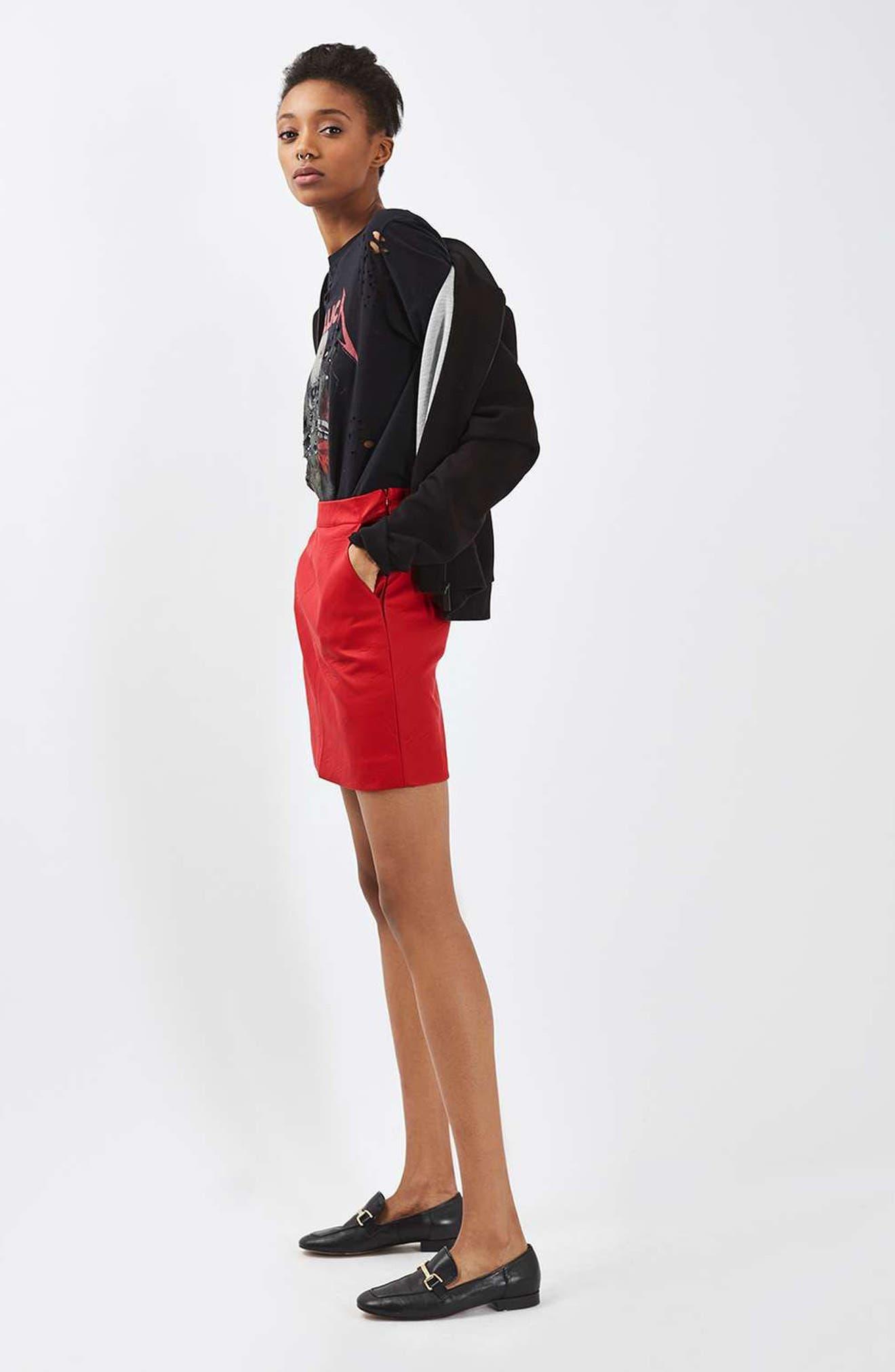 Faux Leather Pencil Skirt,                             Alternate thumbnail 15, color,