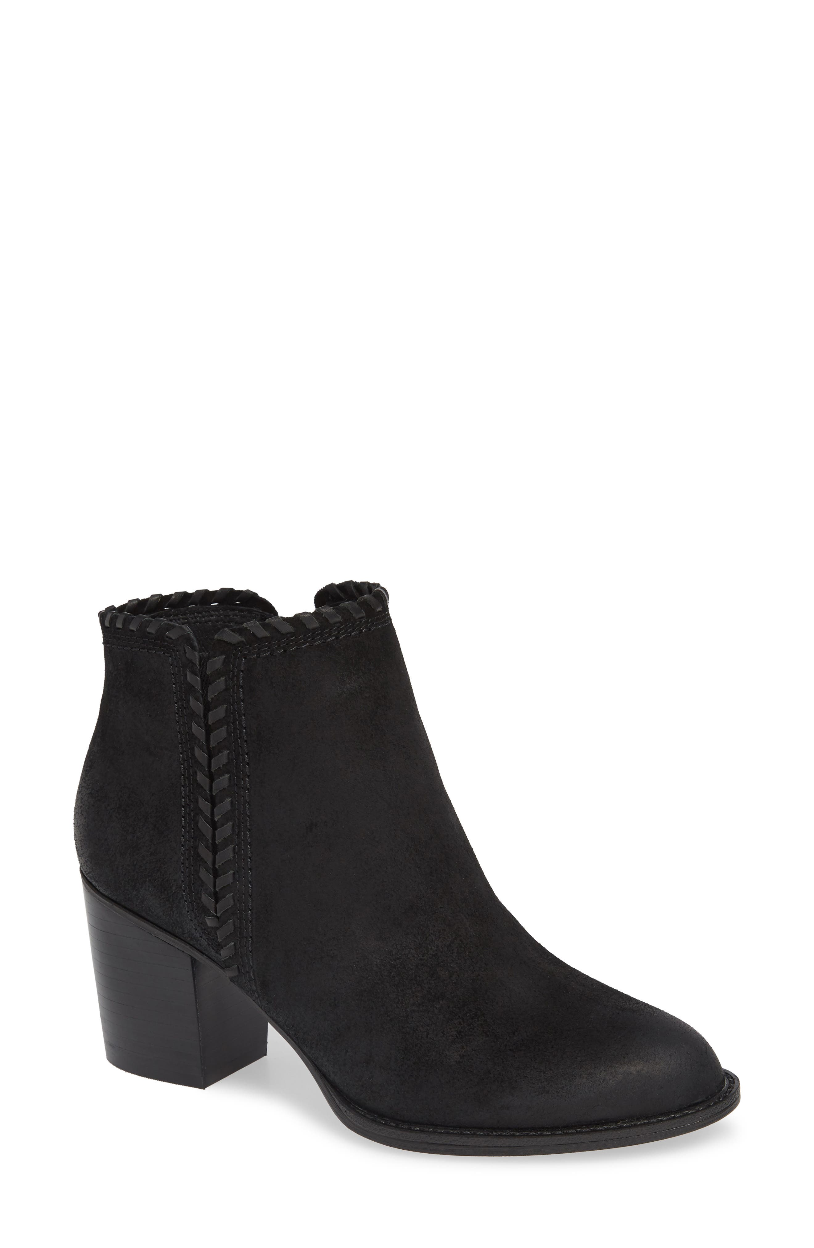 Wilton Bootie,                         Main,                         color, BLACK SUEDE
