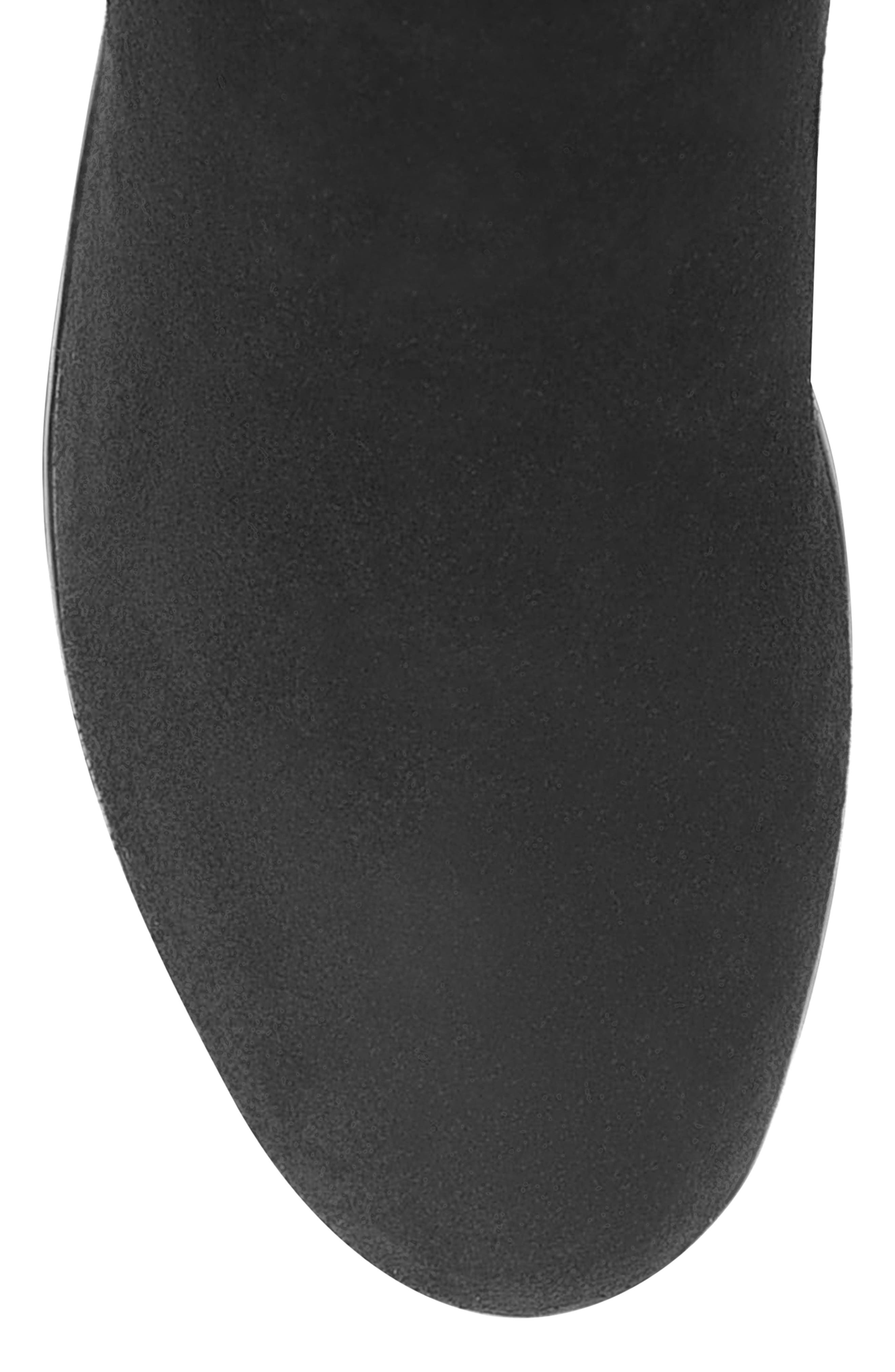 Larissa Waterproof Wedge Knee High Boot,                             Alternate thumbnail 4, color,                             BLACK SUEDE