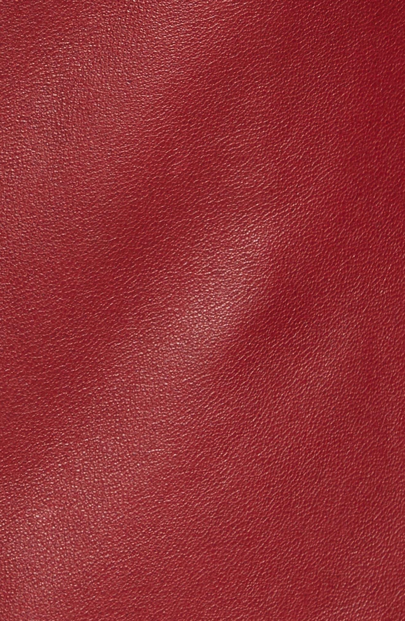Lambskin Leather Scuba Jacket,                             Alternate thumbnail 7, color,                             RED