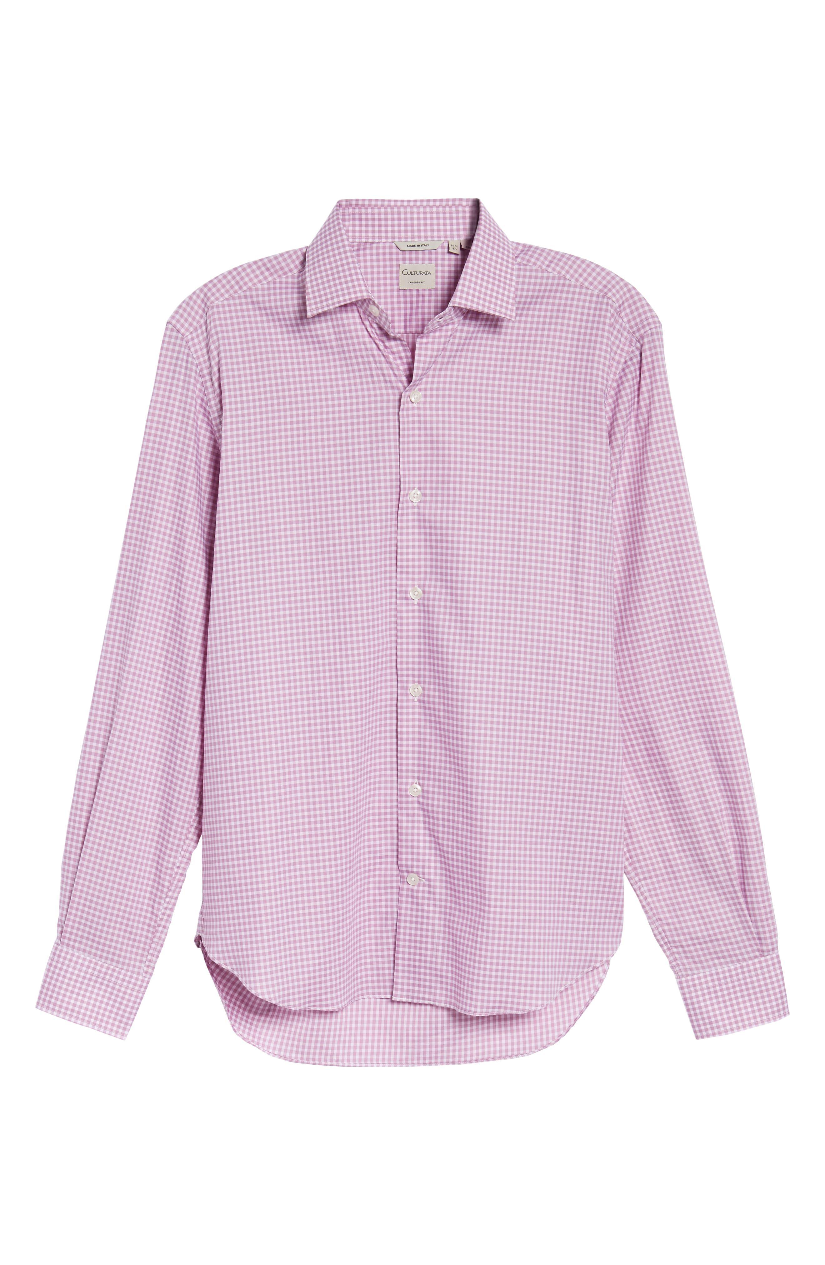 Slim Fit Check Twill Sport Shirt,                             Alternate thumbnail 6, color,