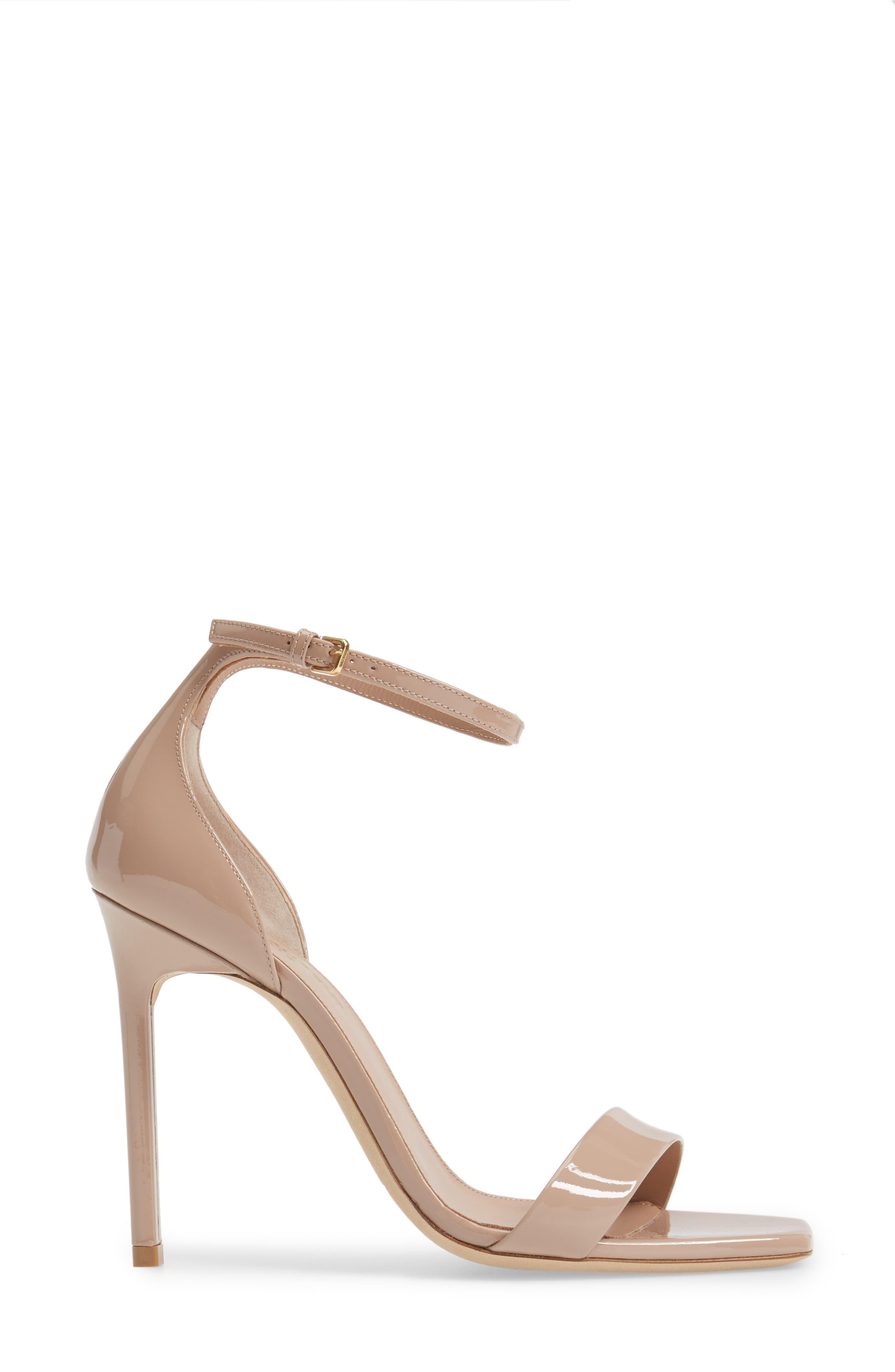 Amber Ankle Strap Sandal,                             Alternate thumbnail 3, color,                             NUDE PATENT