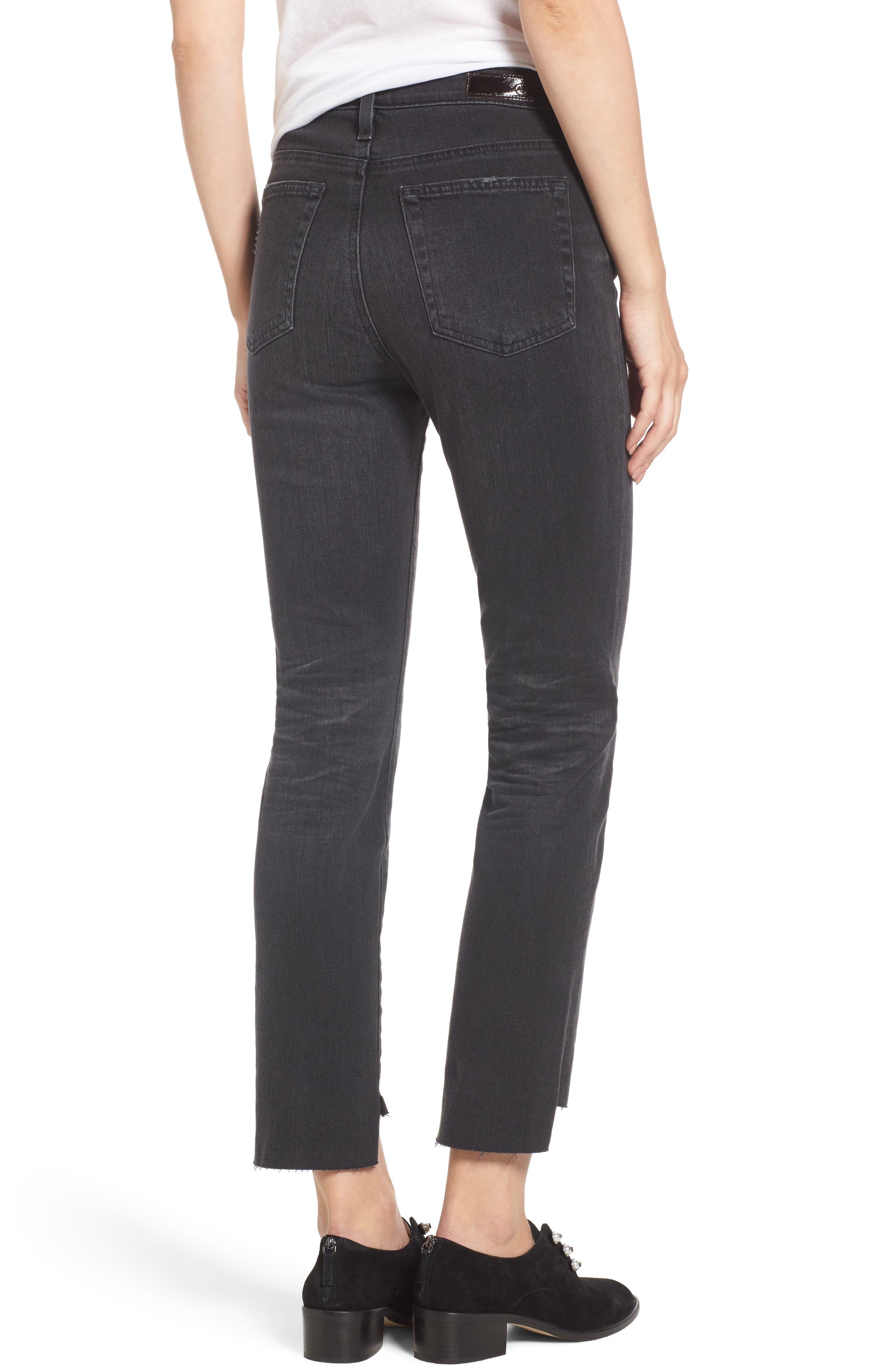 AG,                             Isabelle High Waist Step Hem Jeans,                             Alternate thumbnail 2, color,                             419