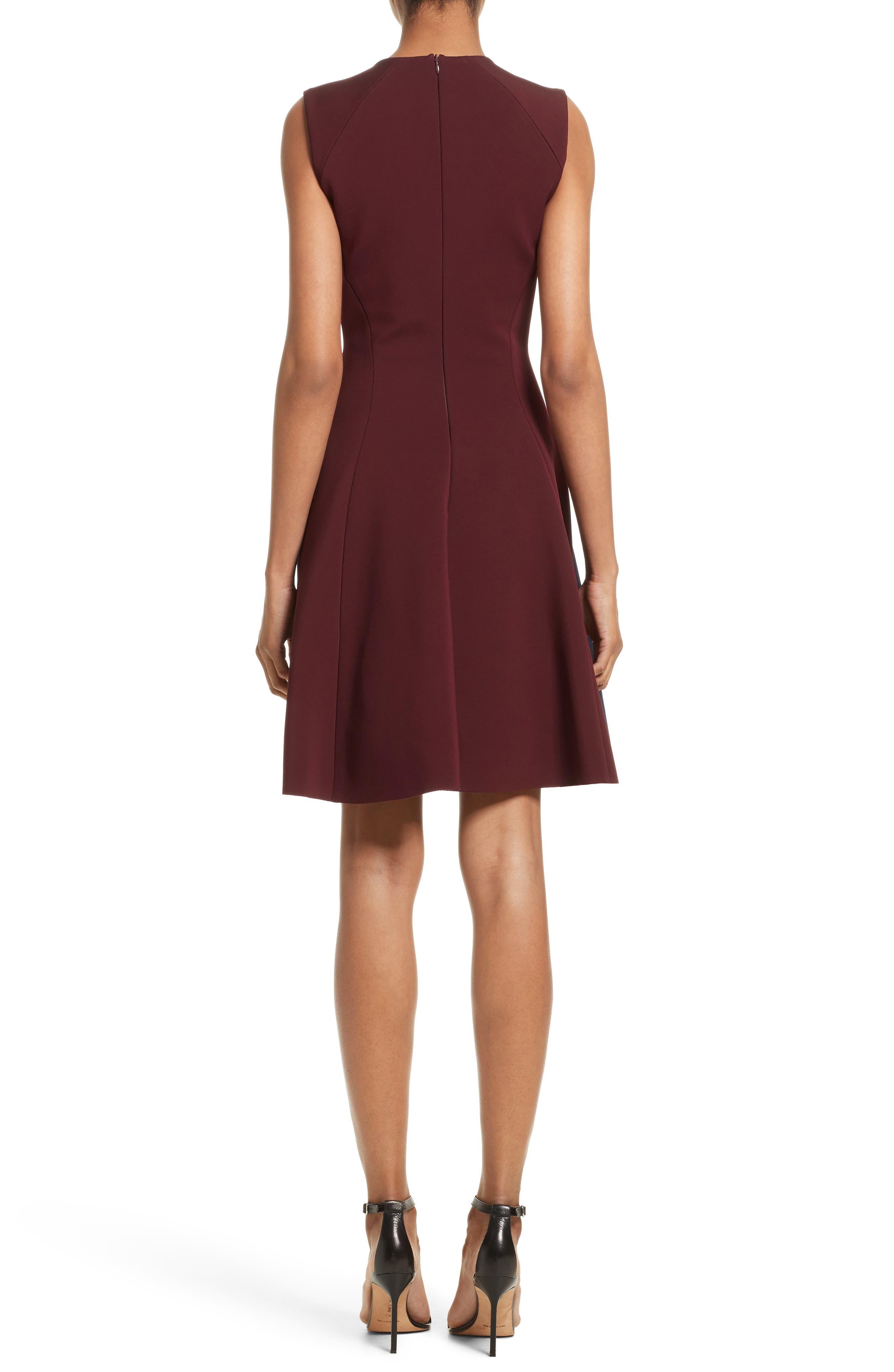 Colorblock Fit & Flare Dress,                             Alternate thumbnail 2, color,                             410