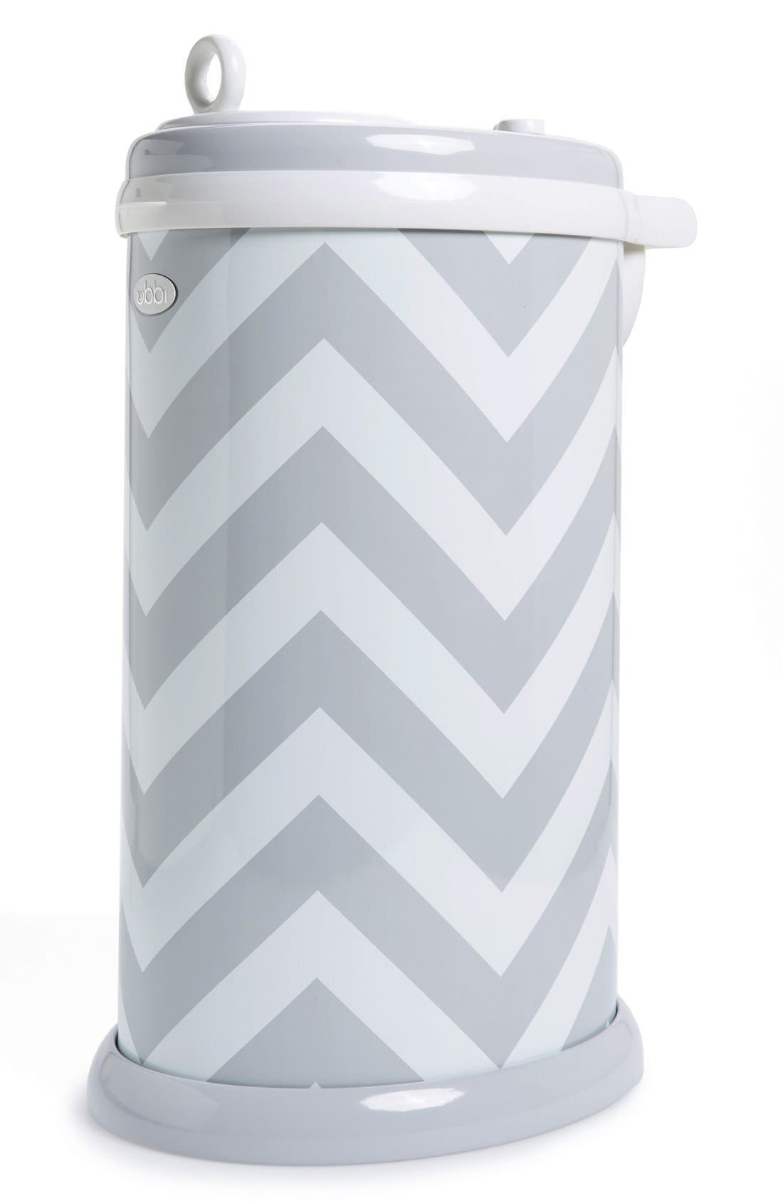 Diaper Pail,                         Main,                         color, GRAY CHEVRON