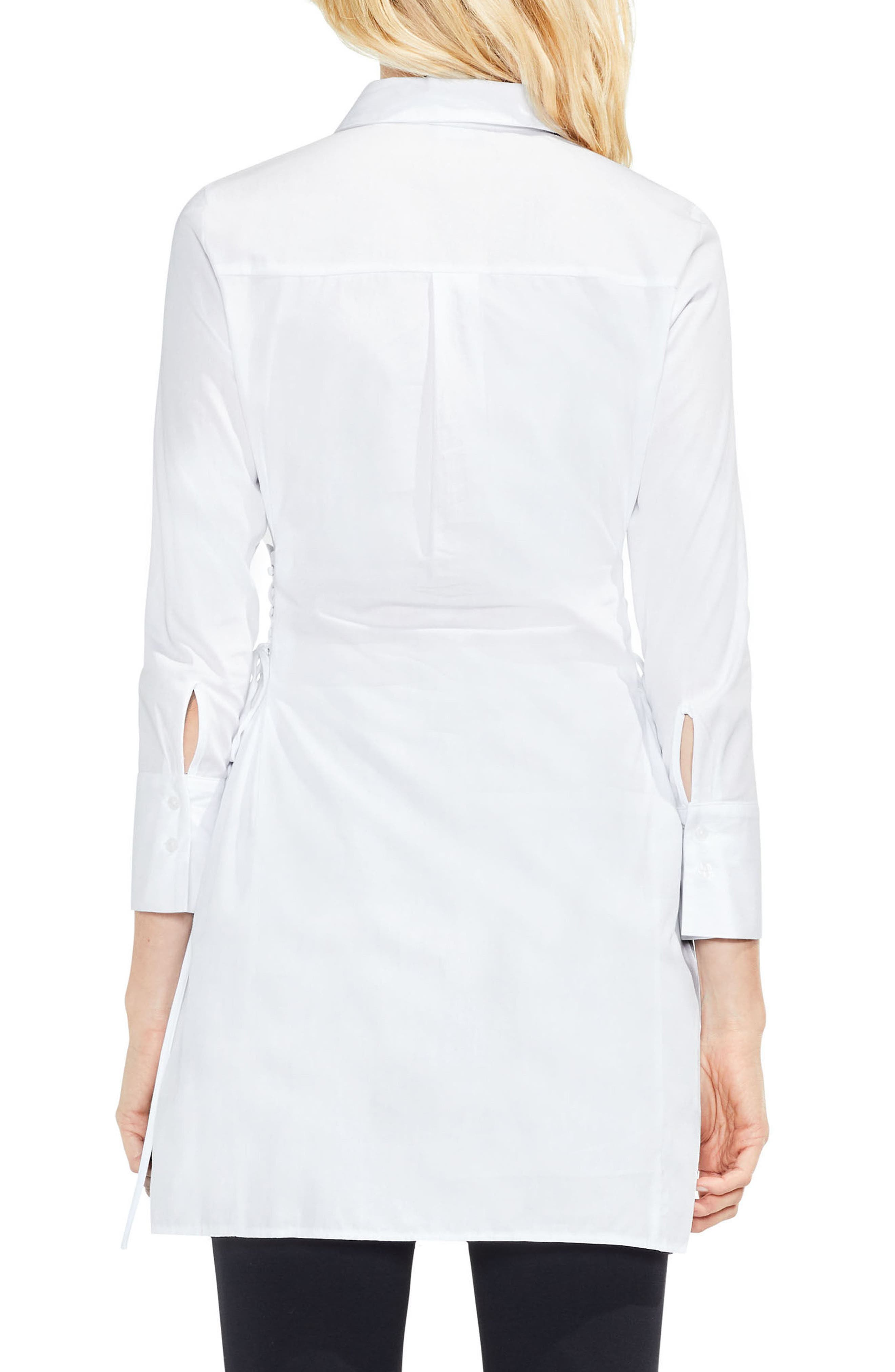 Side Lace-Up Tunic Shirt,                             Alternate thumbnail 2, color,                             145