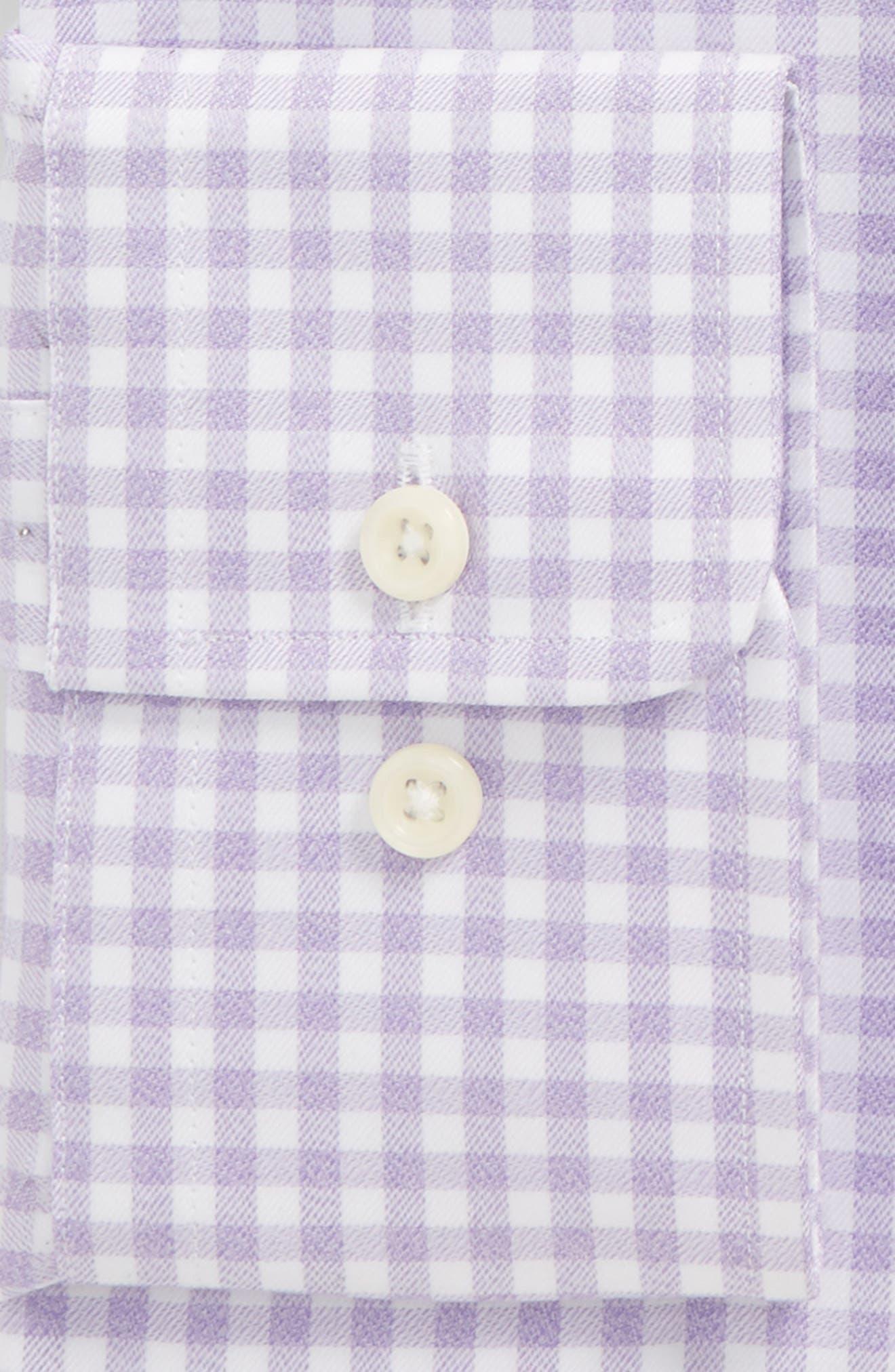 Regular Fit Check Dress Shirt,                             Alternate thumbnail 5, color,