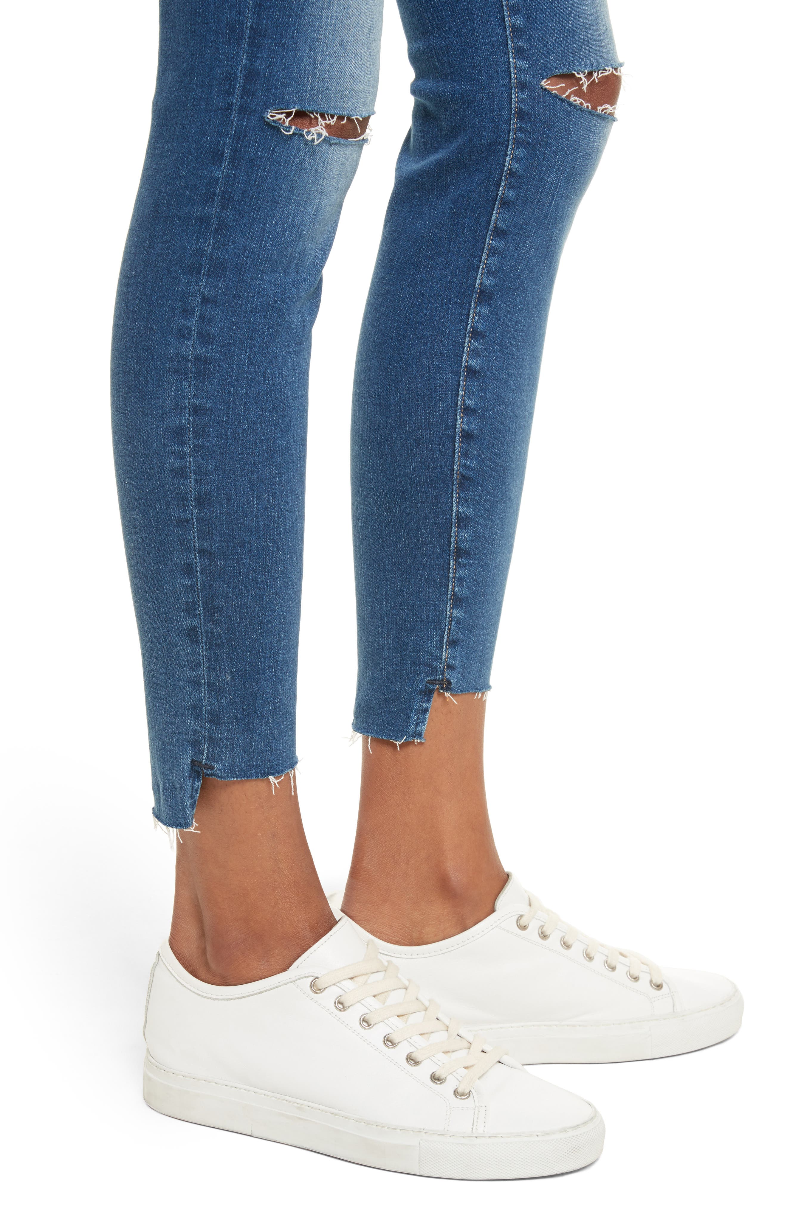 Le High High Waist Ankle Skinny Jeans,                             Alternate thumbnail 4, color,                             420