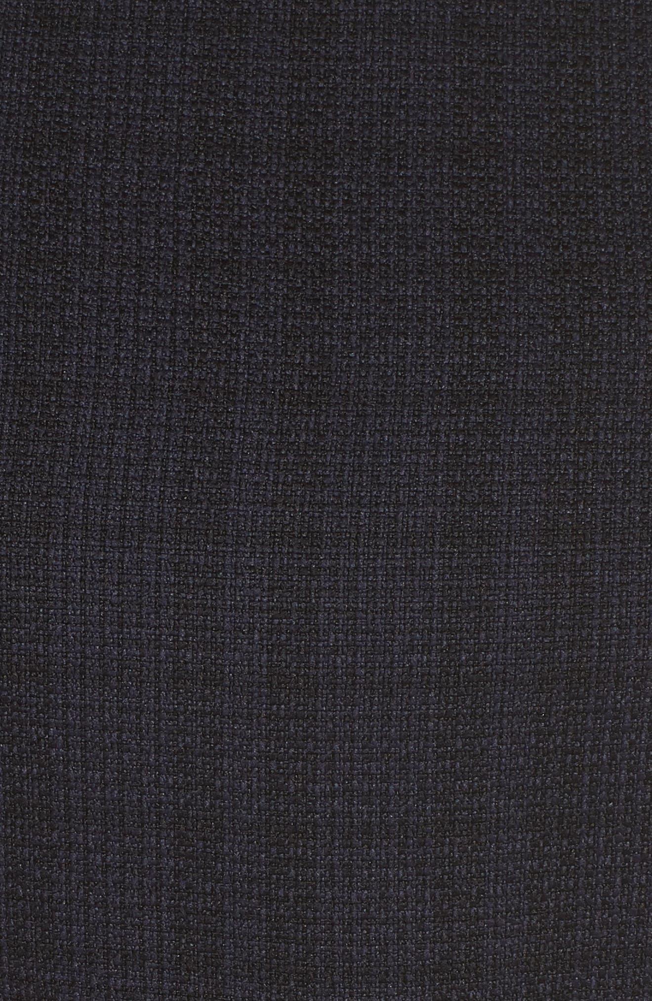 1901, Tie Waist Tweed Midi Dress, Alternate thumbnail 6, color, 410