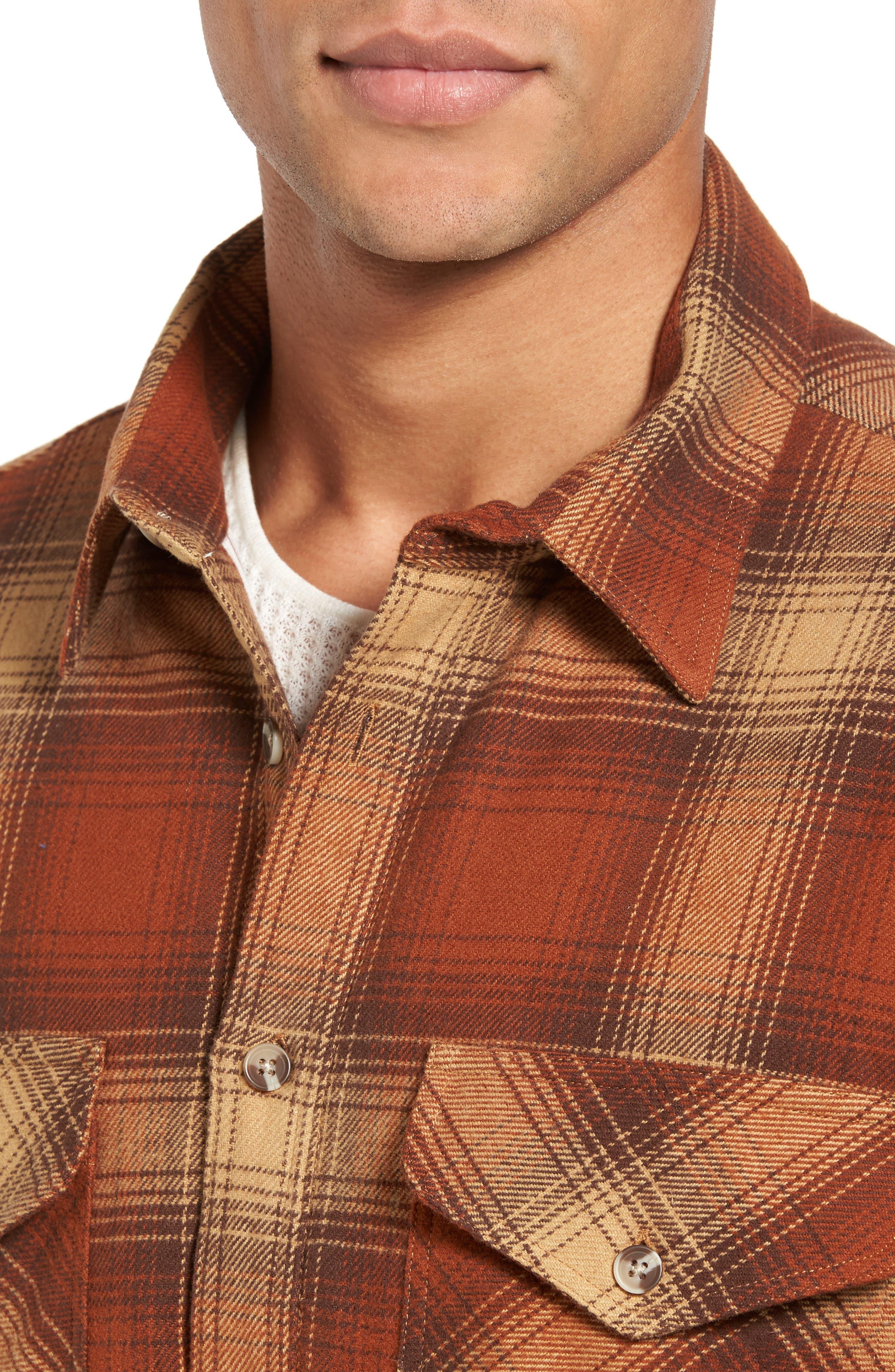 Plaid Shirt Jacket,                             Alternate thumbnail 4, color,                             200